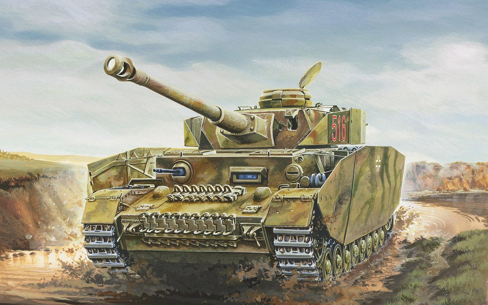 рисунок Sd.Kfz.162/2 Pz.Kpfw. IV Ausf. H