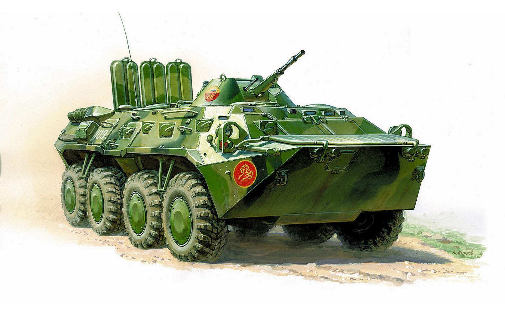 рисунок БТР-80 внутренних войск РФ