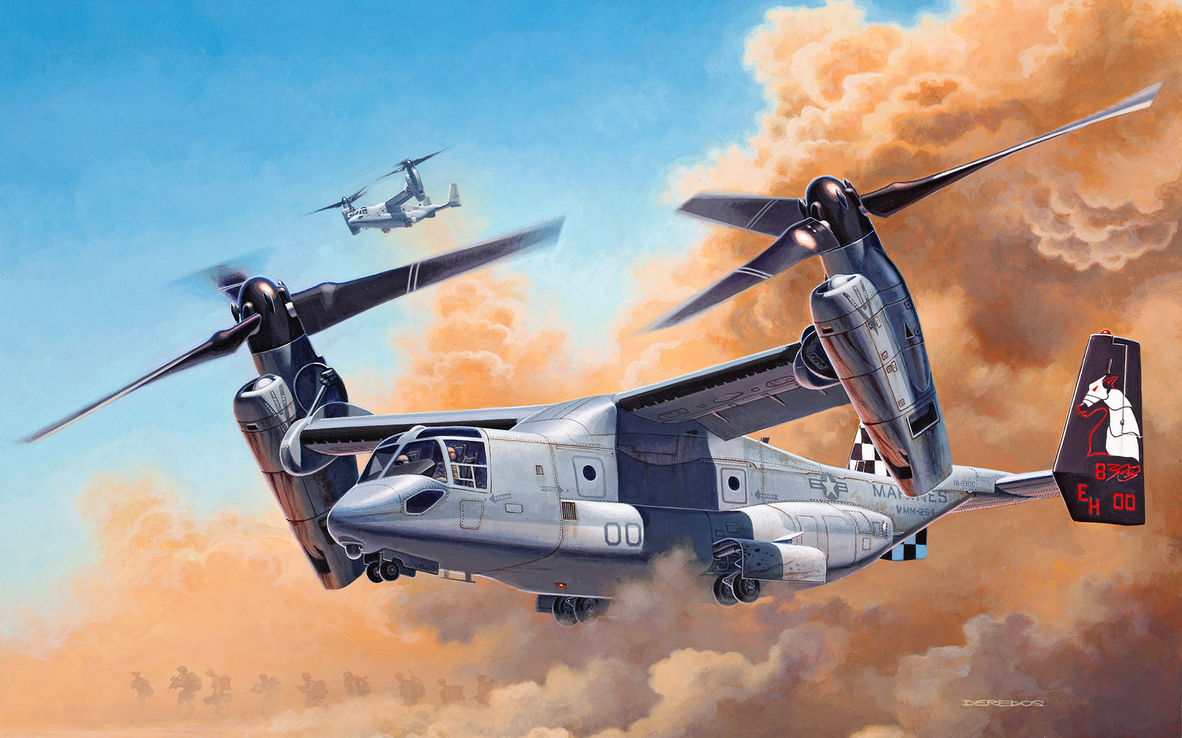 рисунок MV22 Osprey