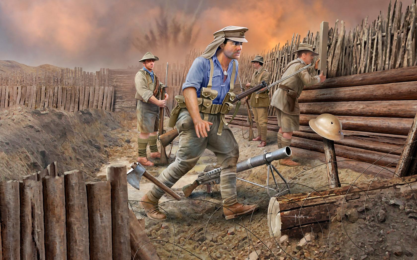 рисунок Anzac Infantry