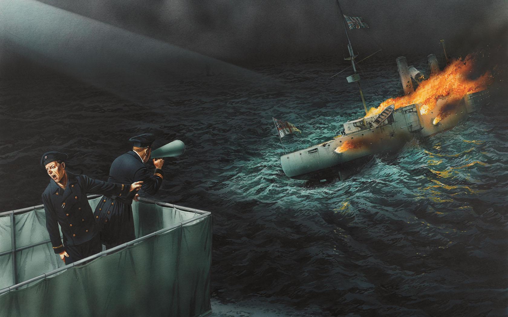 рисунок Сражение при Коронеле