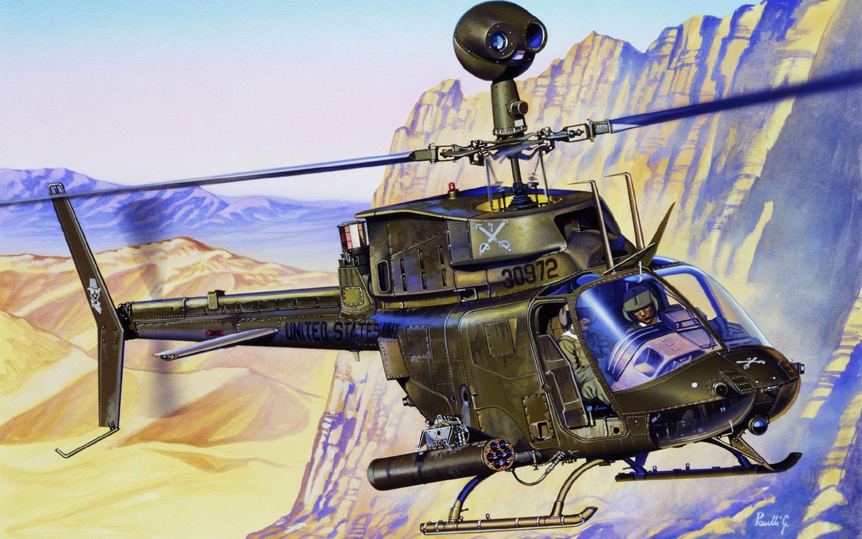 рисунок Bell OH-58D Kiowa
