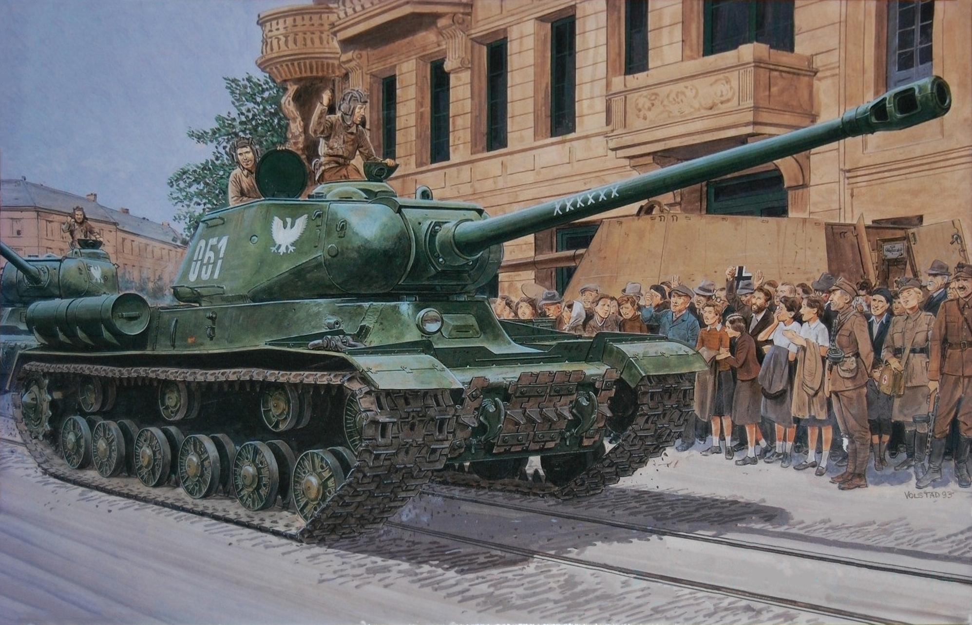 рисунок польский ИС-2