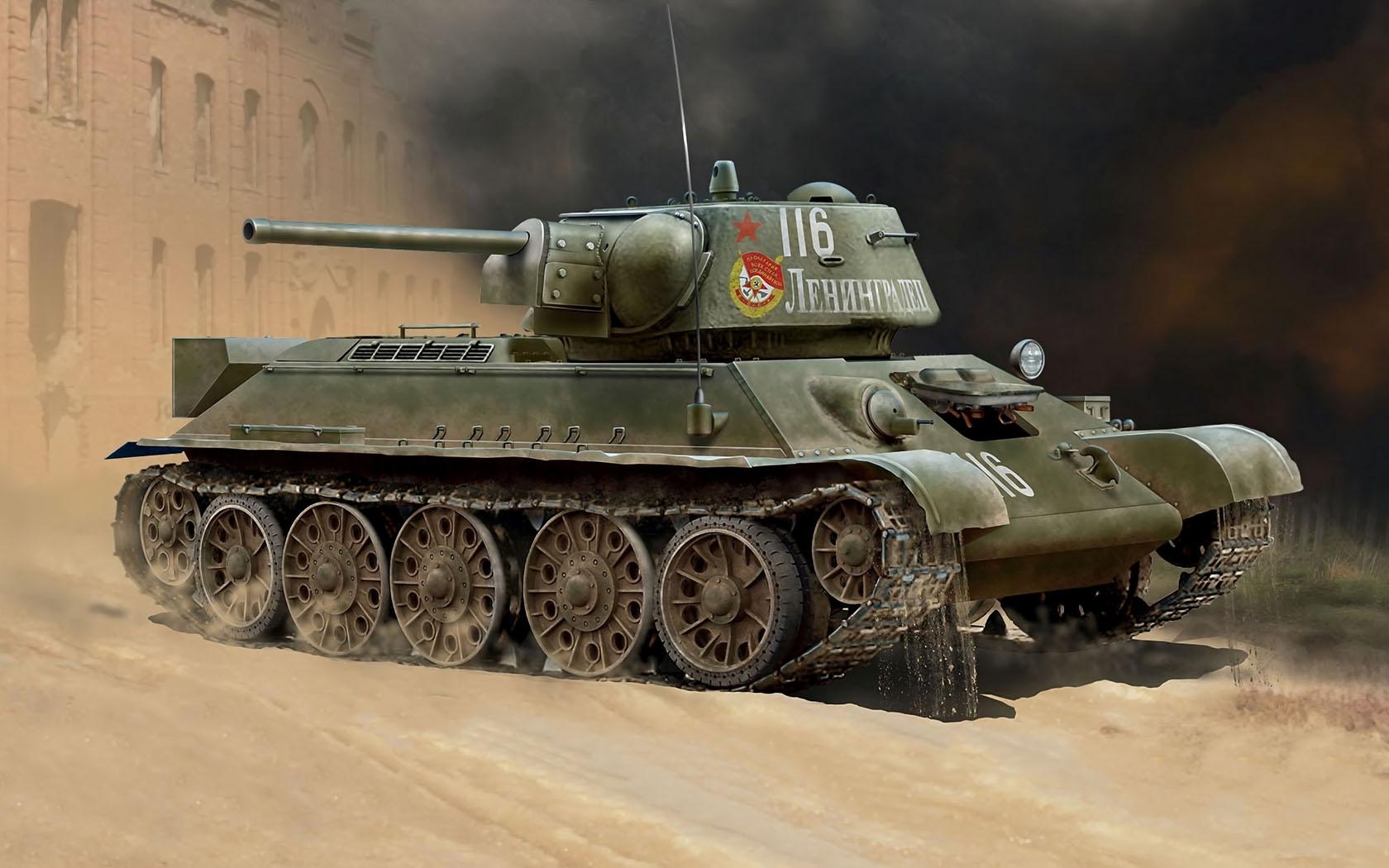 рисунок Т-34-76 ленинградец