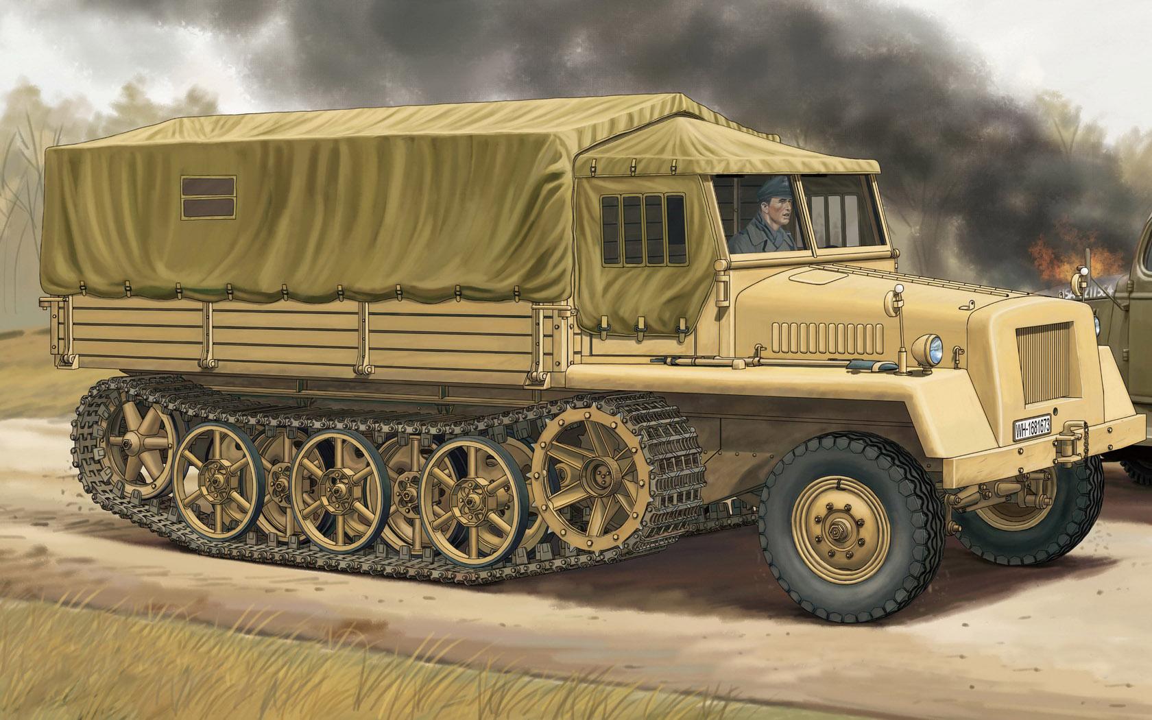 рисунок Schwere Wehrmachtschlepper sWS