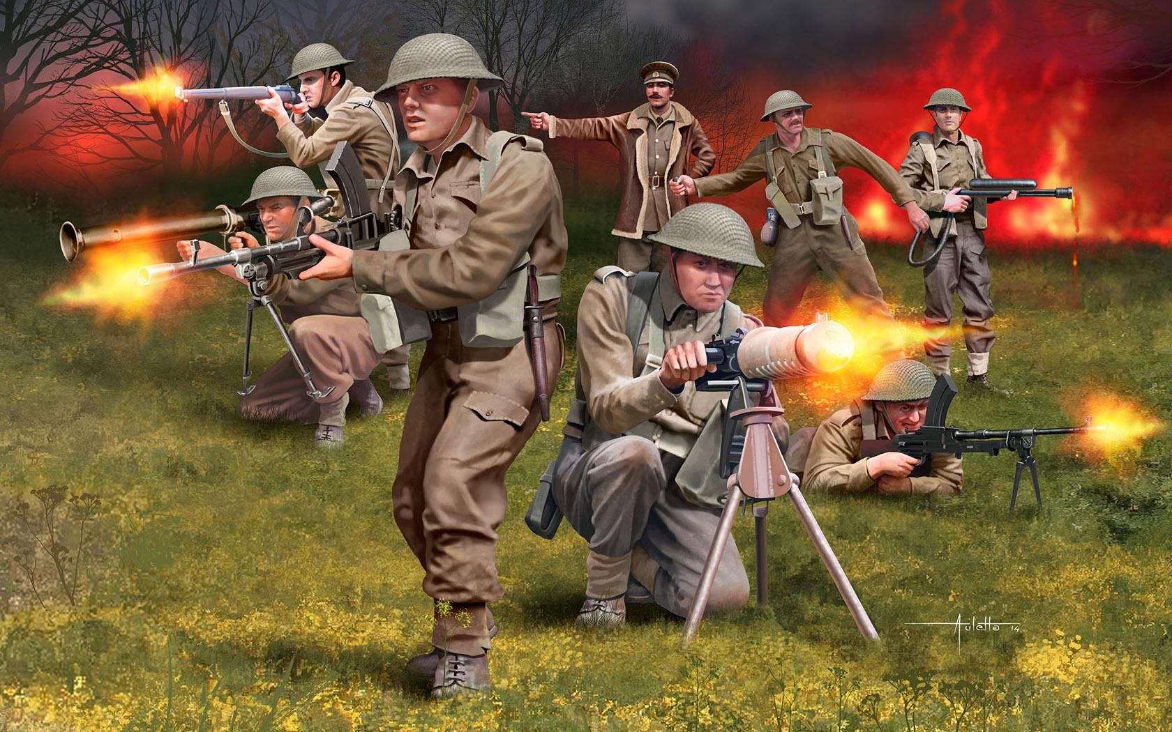 рисунок British Infantry WWII