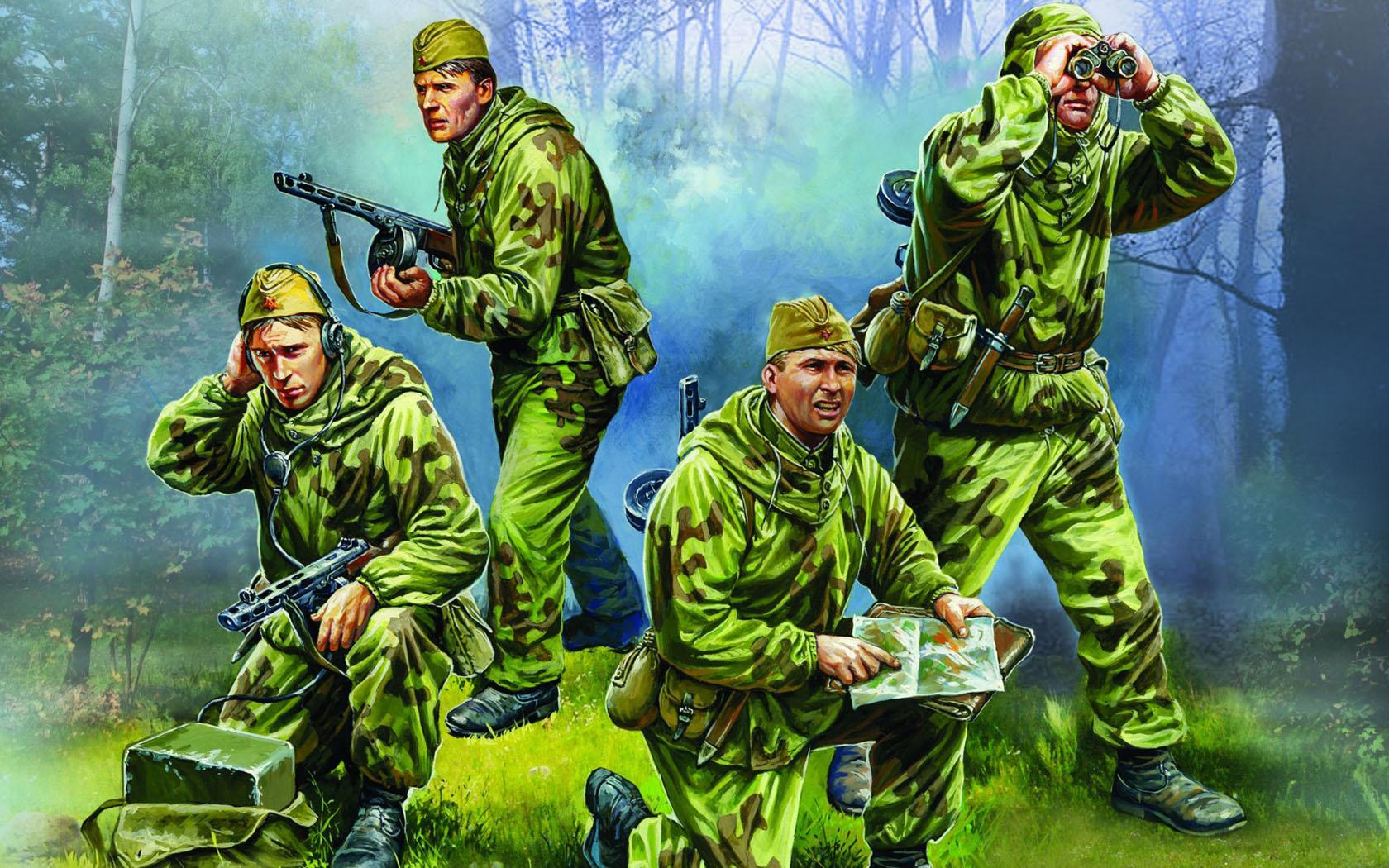 рисунок Советские разведчики, 1941-1943