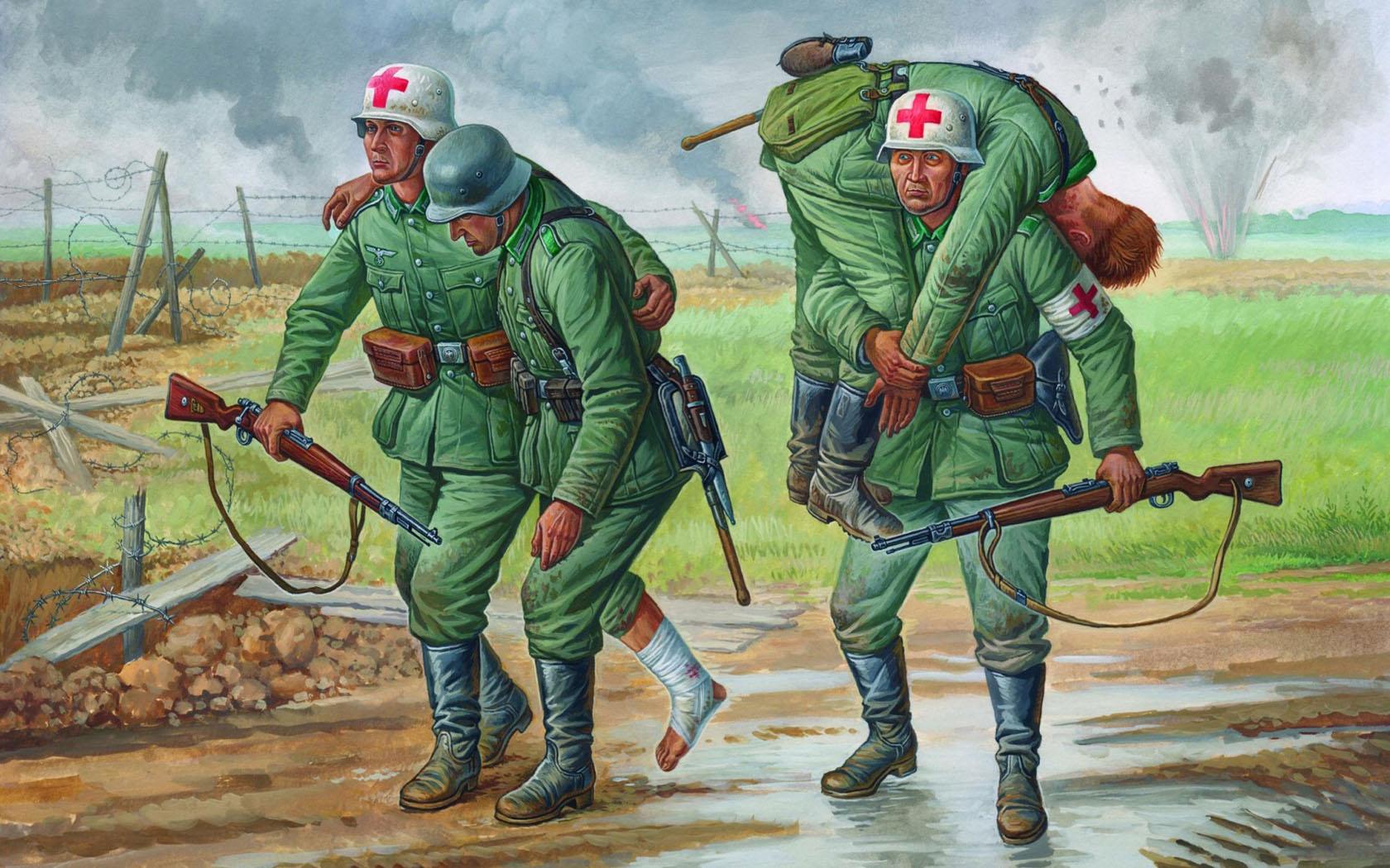 рисунок Немецкие санитары, 1941-1943