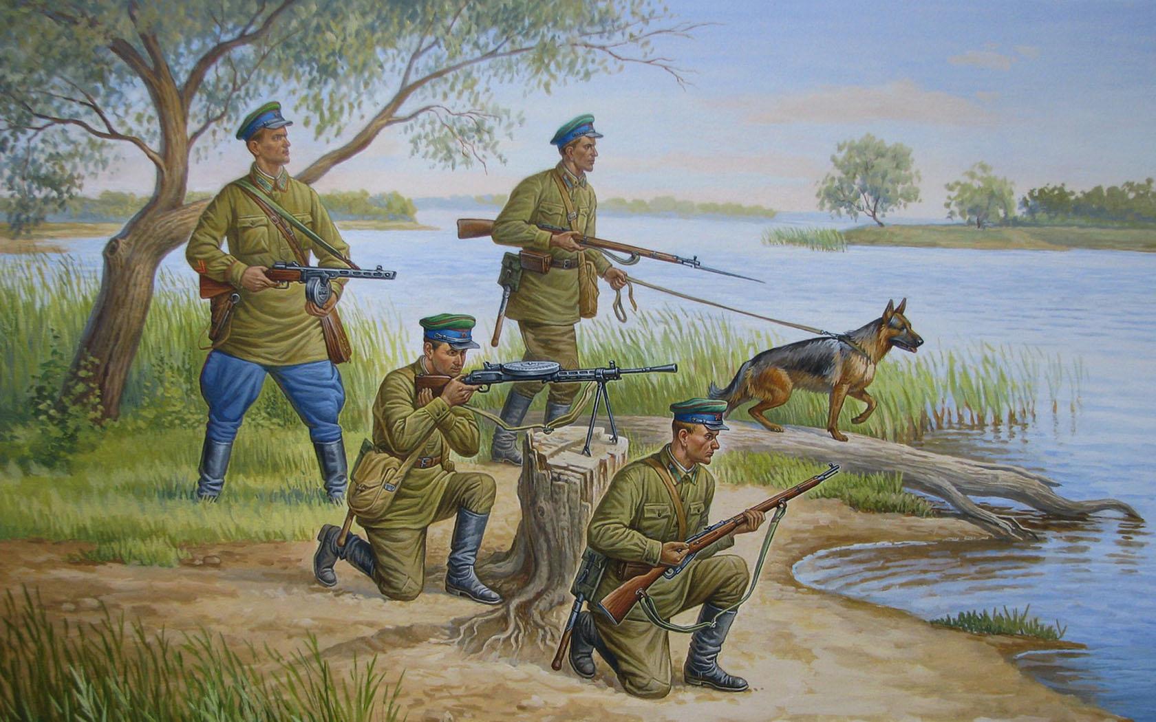 рисунок Советские пограничники, 1941