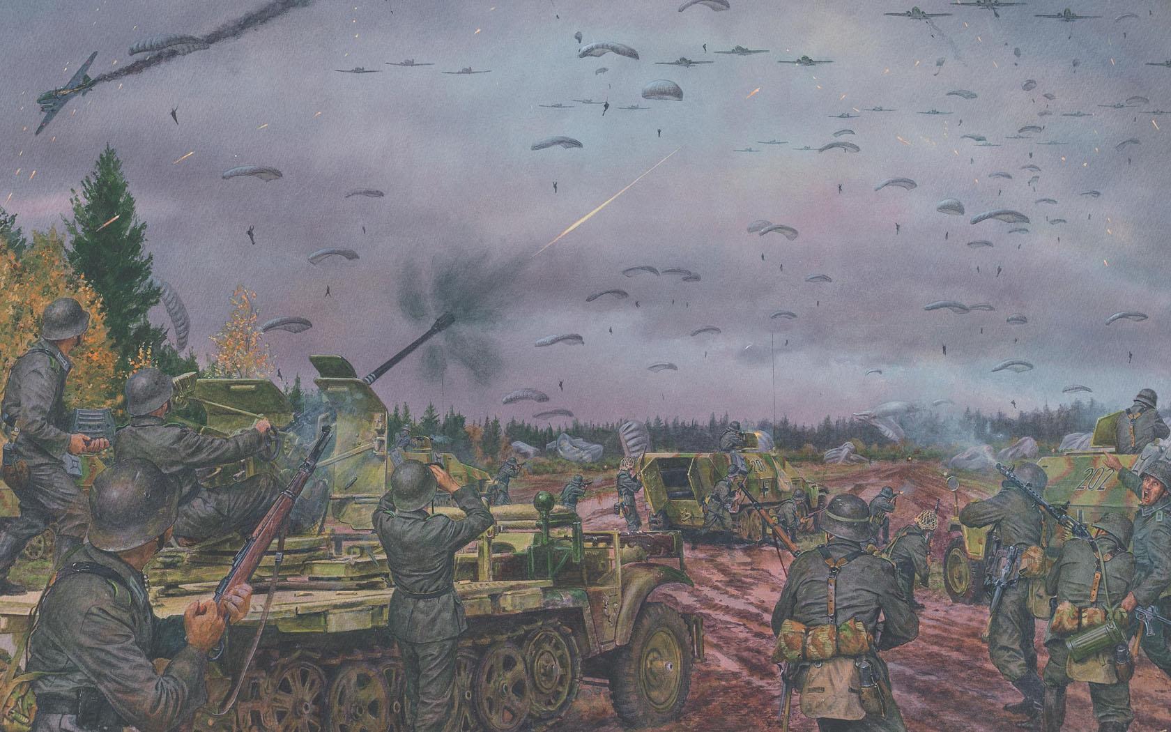 рисунок Каневская воздушно-десантная операция