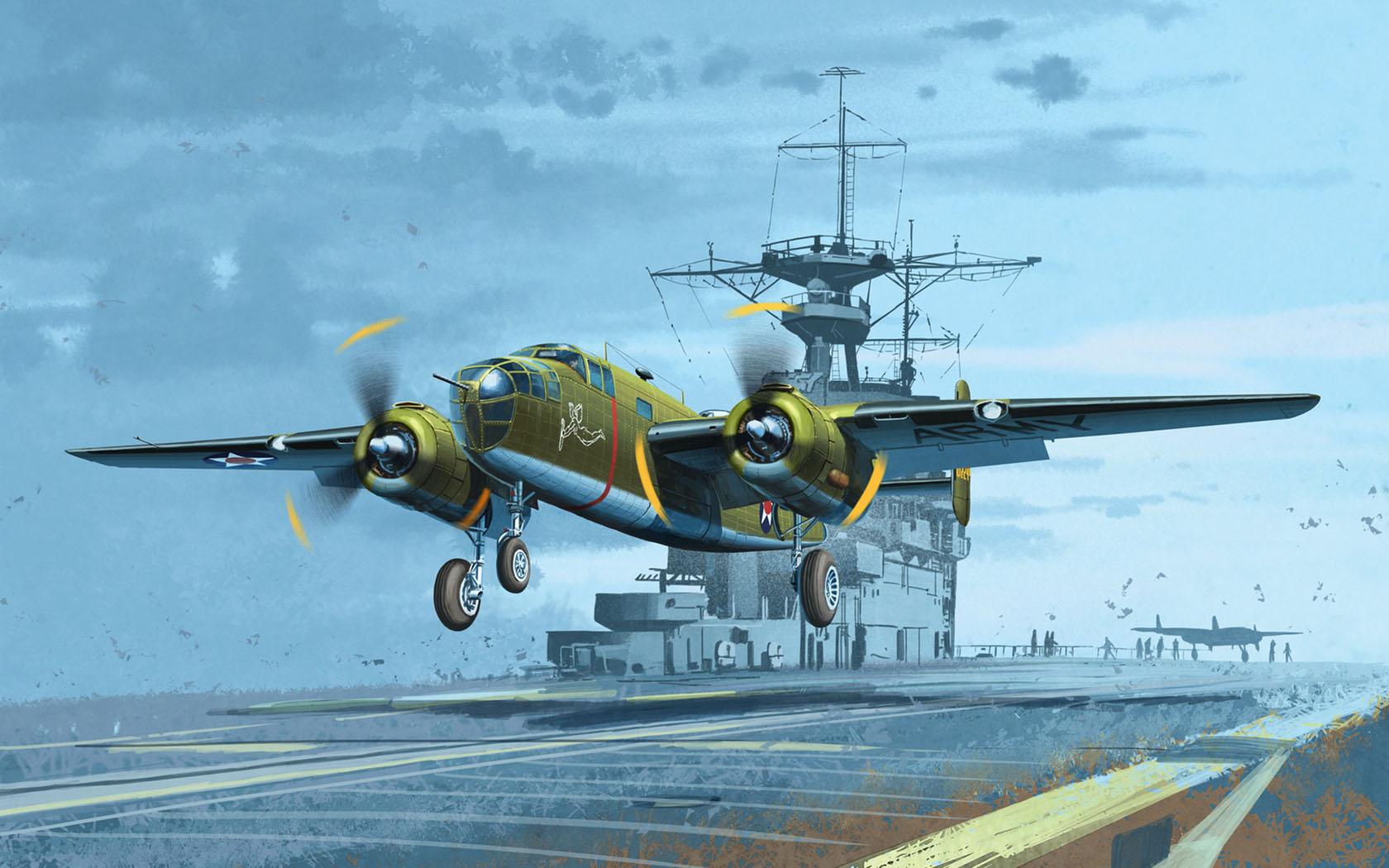 """рисунок USAAF B-25B Mitchell """"Doolittle Raid"""""""