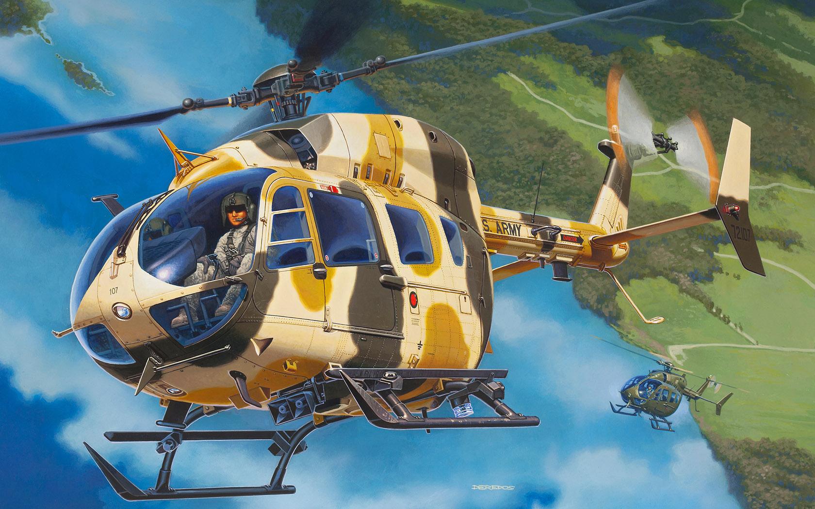 рисунок UH-72A Lakota