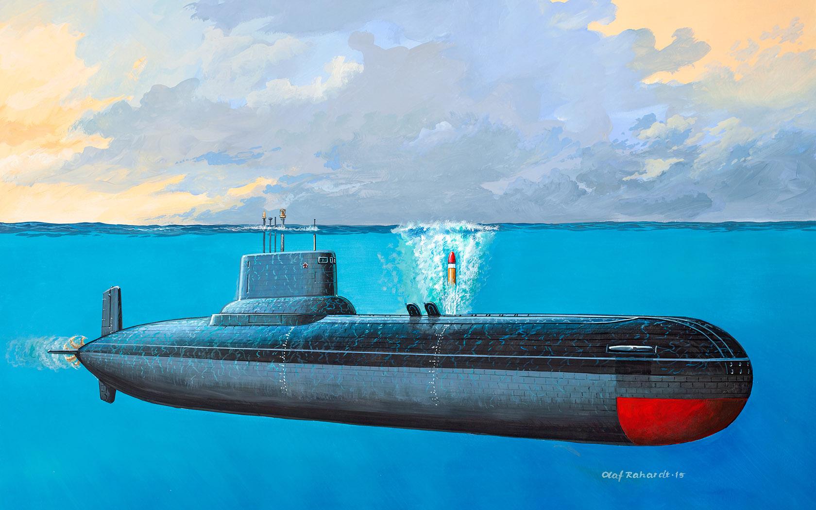 рисунок Soviet Submarine Typhoon Class
