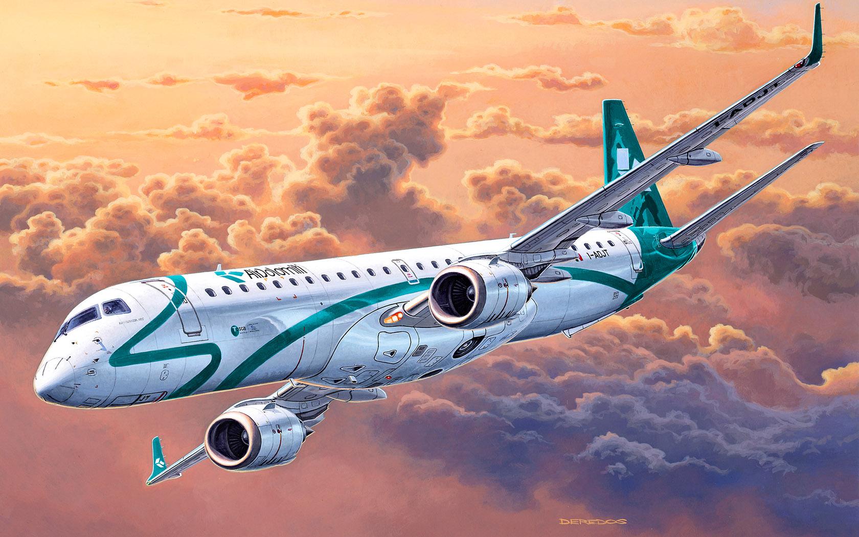 рисунок Embraer 195
