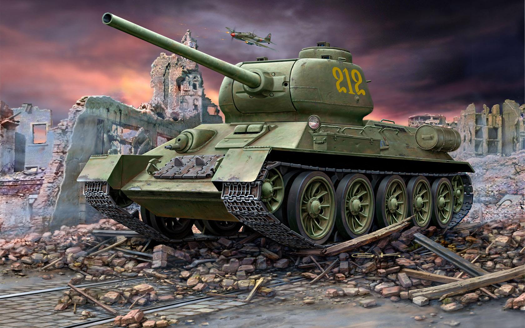 рисунок T-34/85