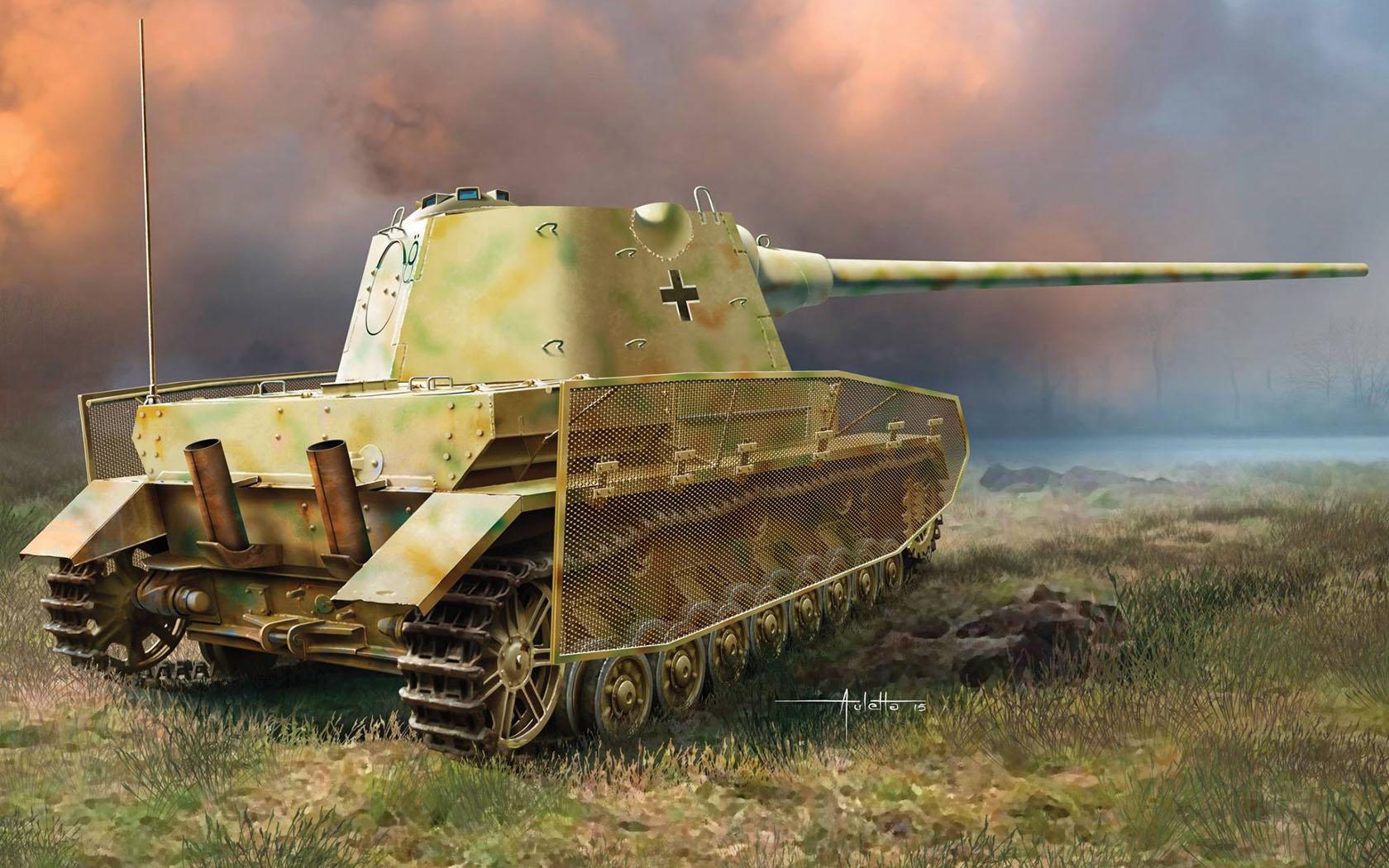 рисунок Pz.Kpfw.IV mit Panther F Turret