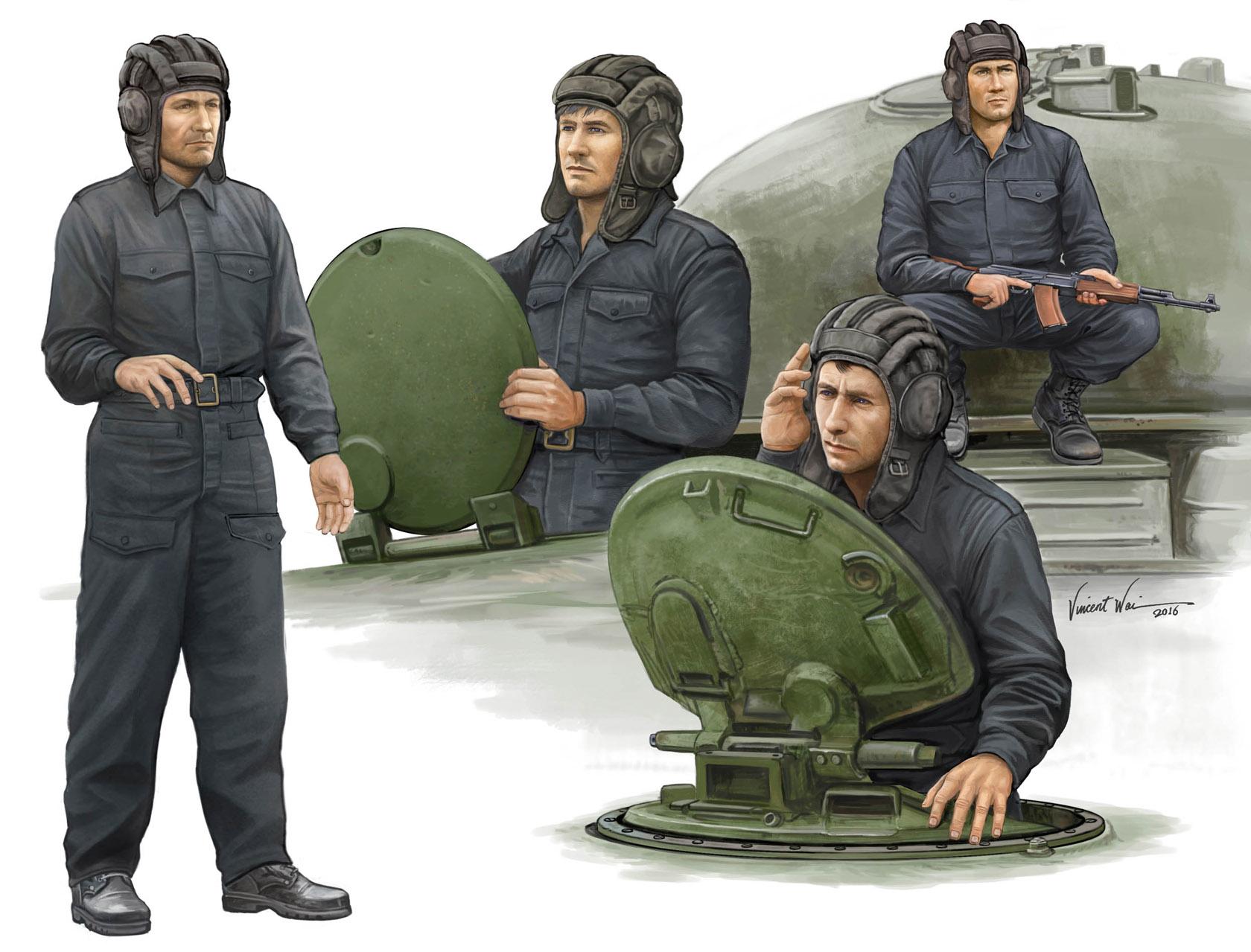 рисунок советские танкисты