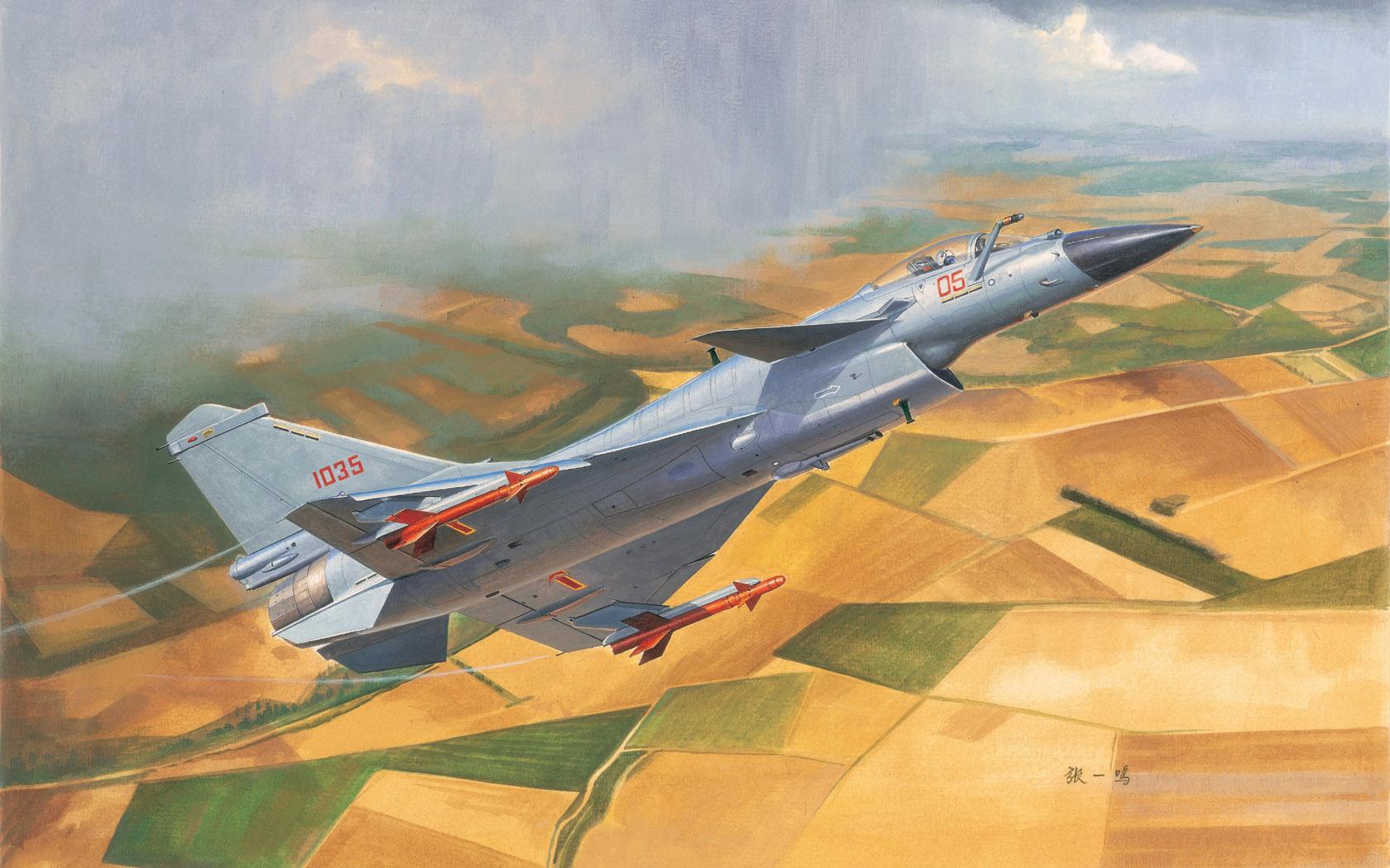 рисунок Chinese J-10B Fighter