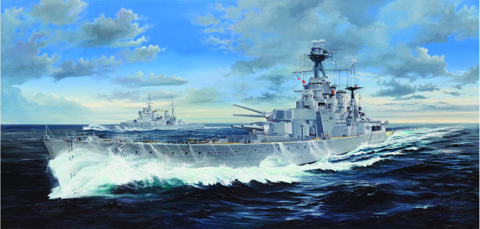 рисунок HMS Hood