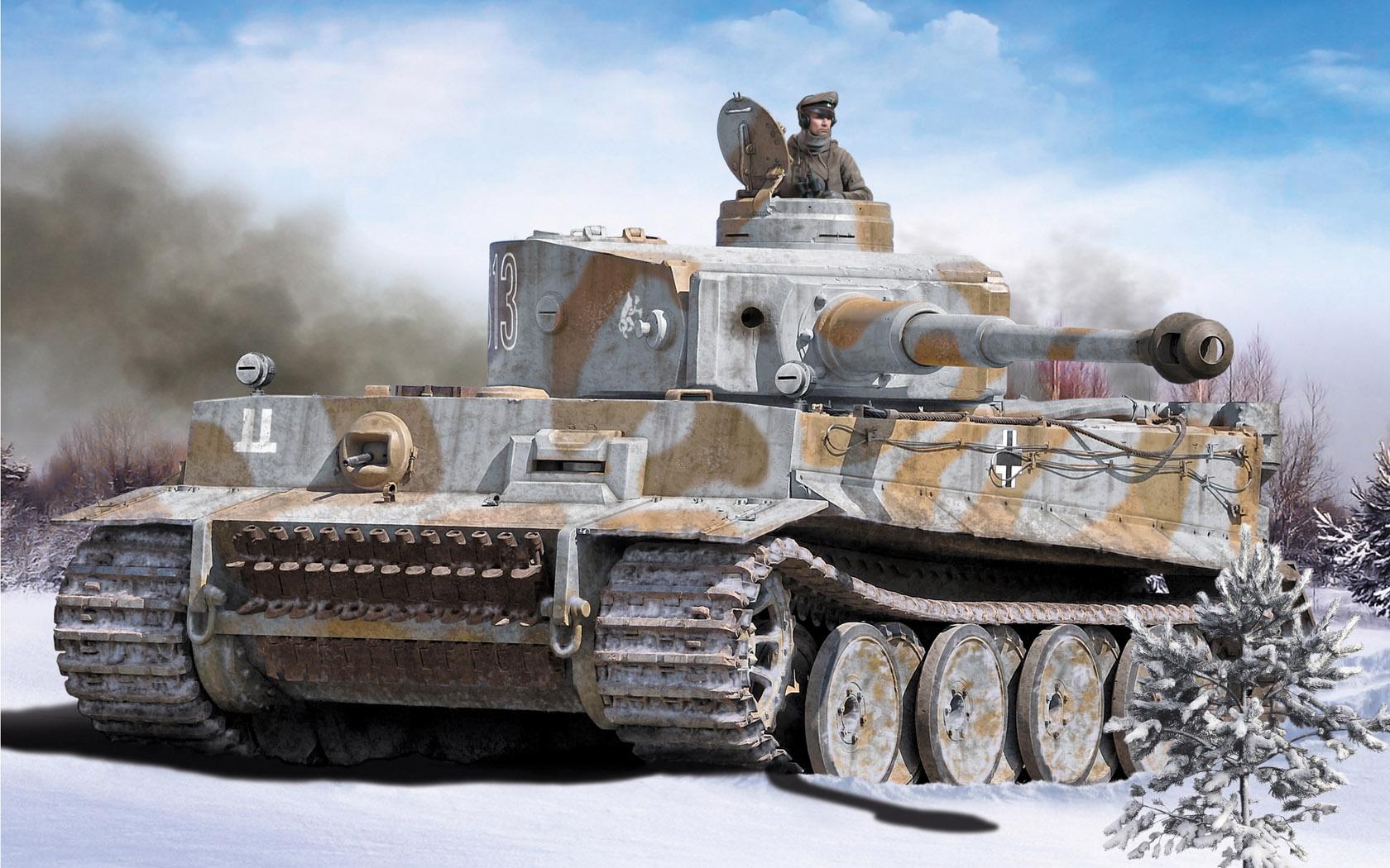 """рисунок """"Тигры"""" в снегу."""