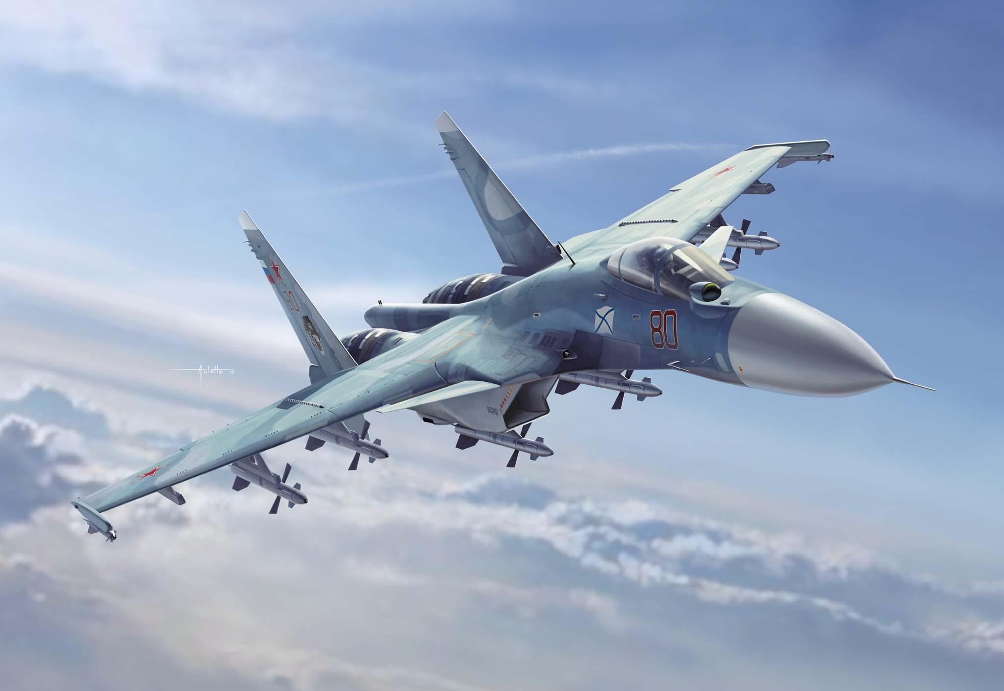 рисунок Su-33 Flanker D