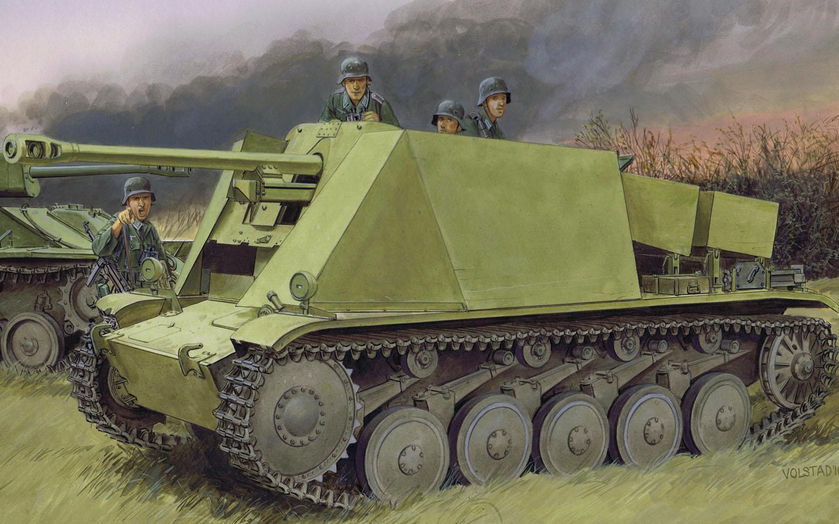 рисунок 5 cm PaK 38 L/60 auf Fgst. Pz. Kpfw. II