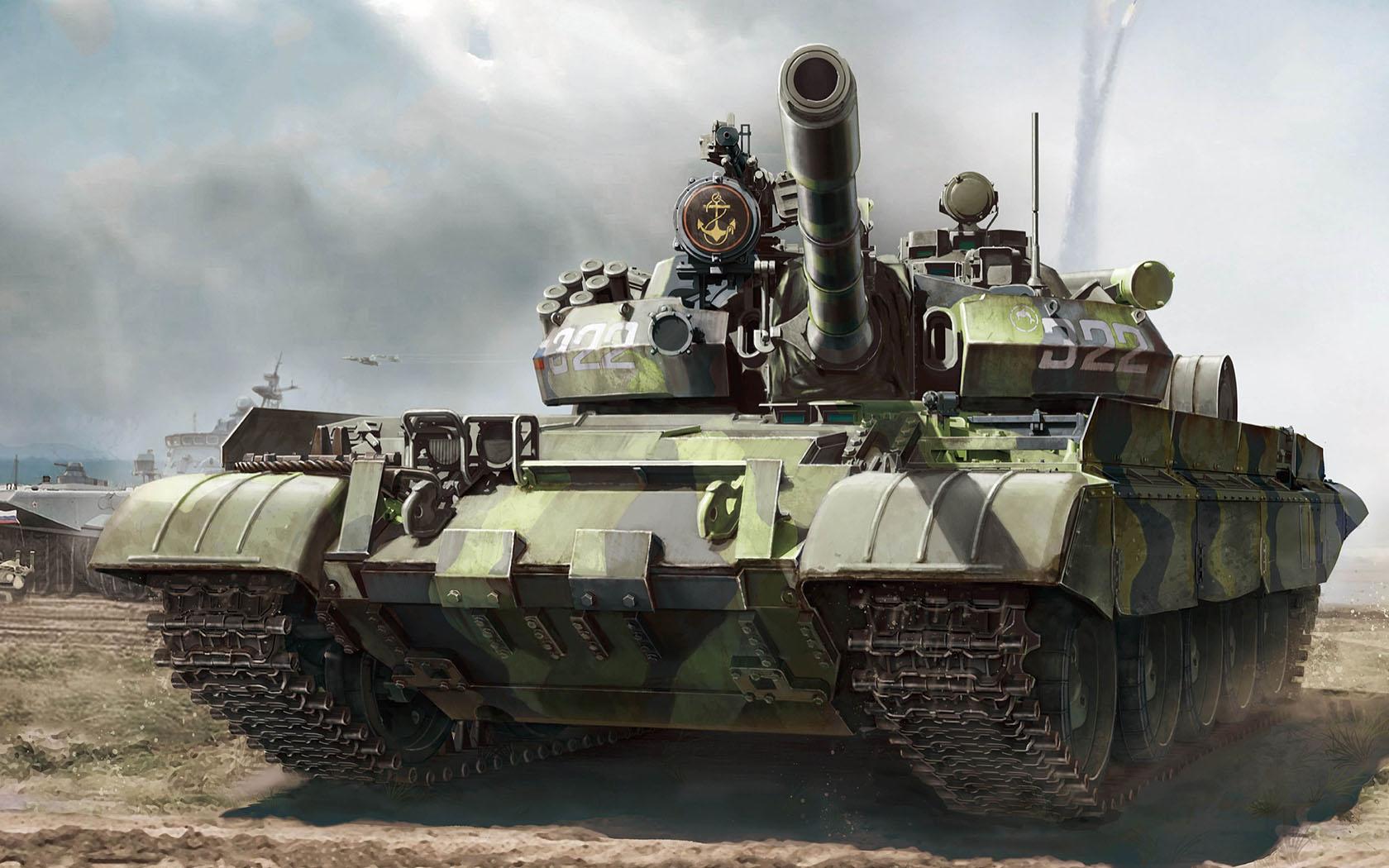 рисунок Т-55АМ