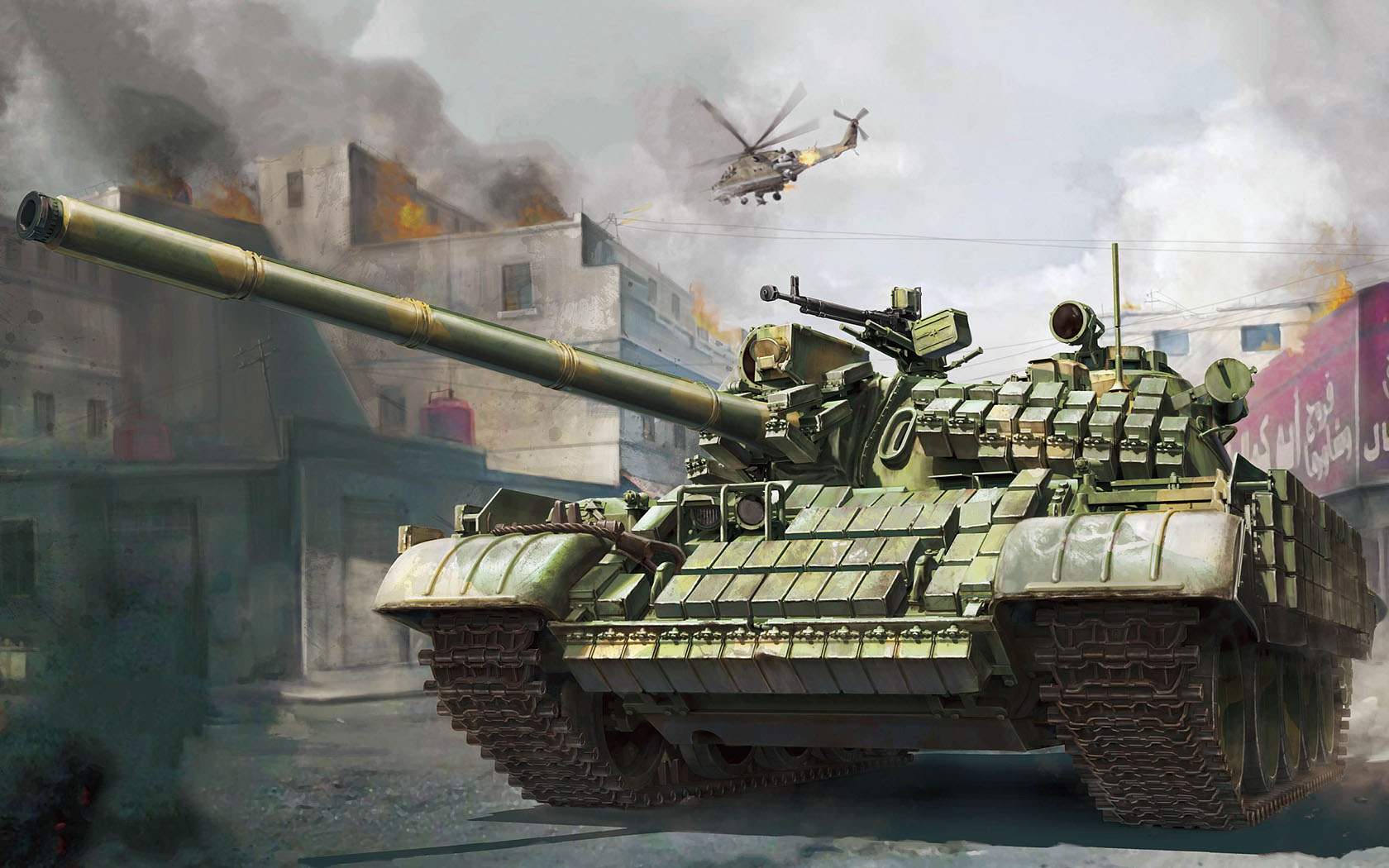 рисунок Т-55АМВ