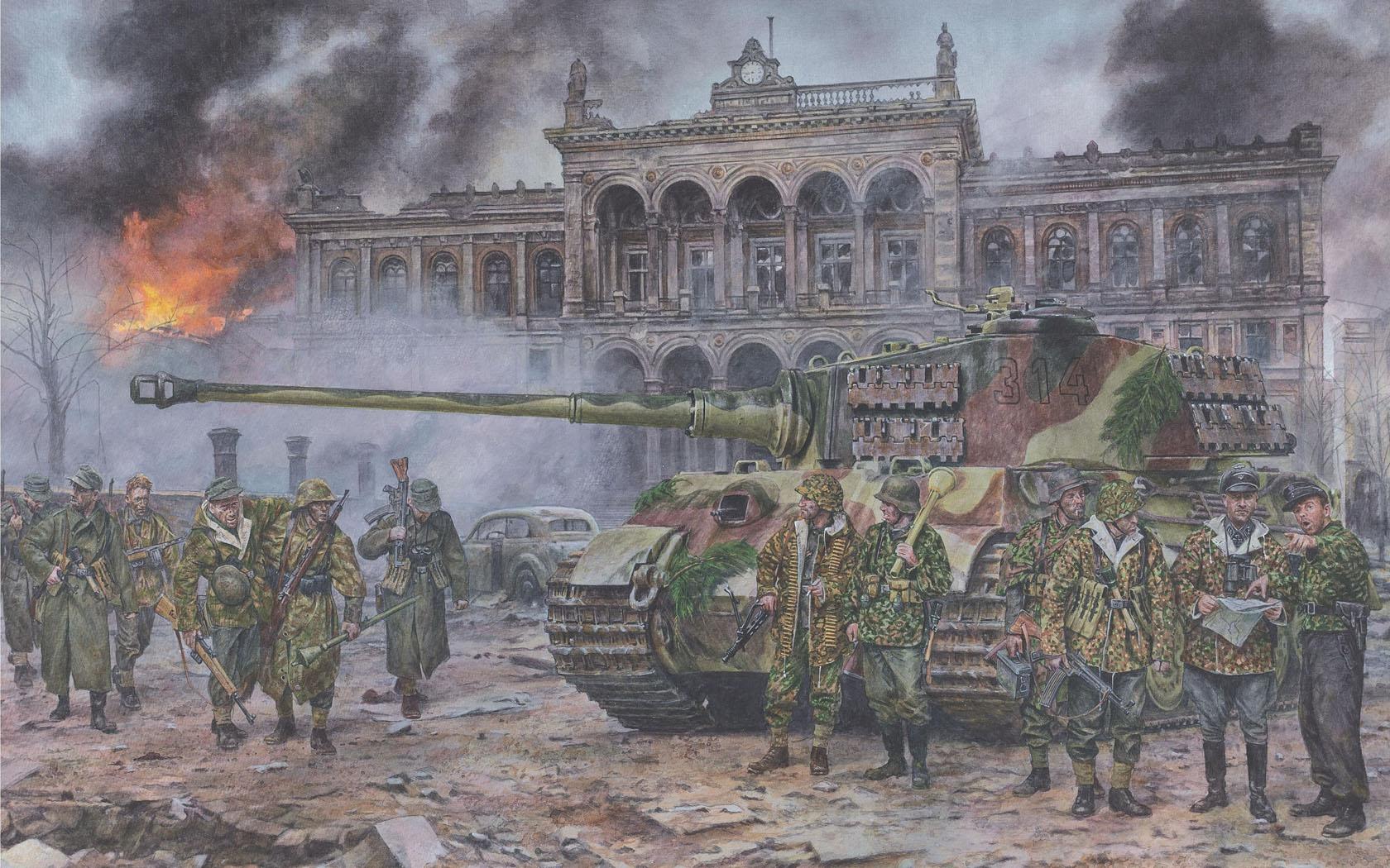 рисунок Последние Королевские тигры, Берлин, май 1945 года