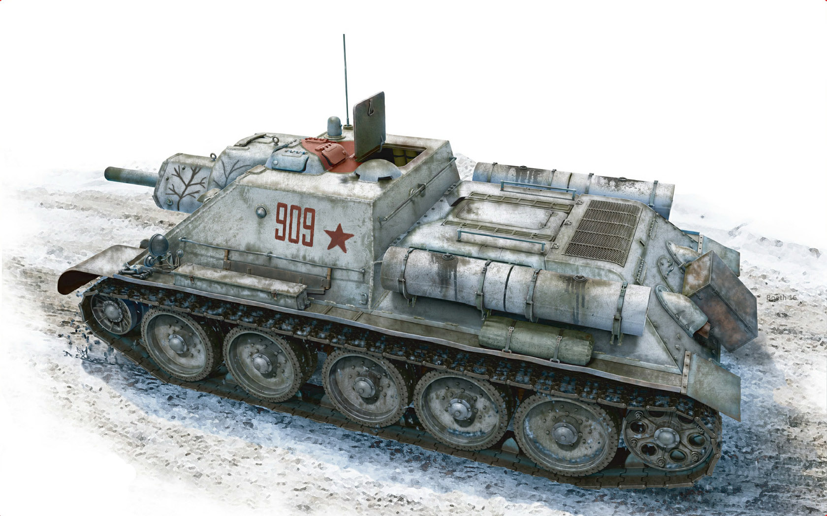 рисунок SU-122 Early Production