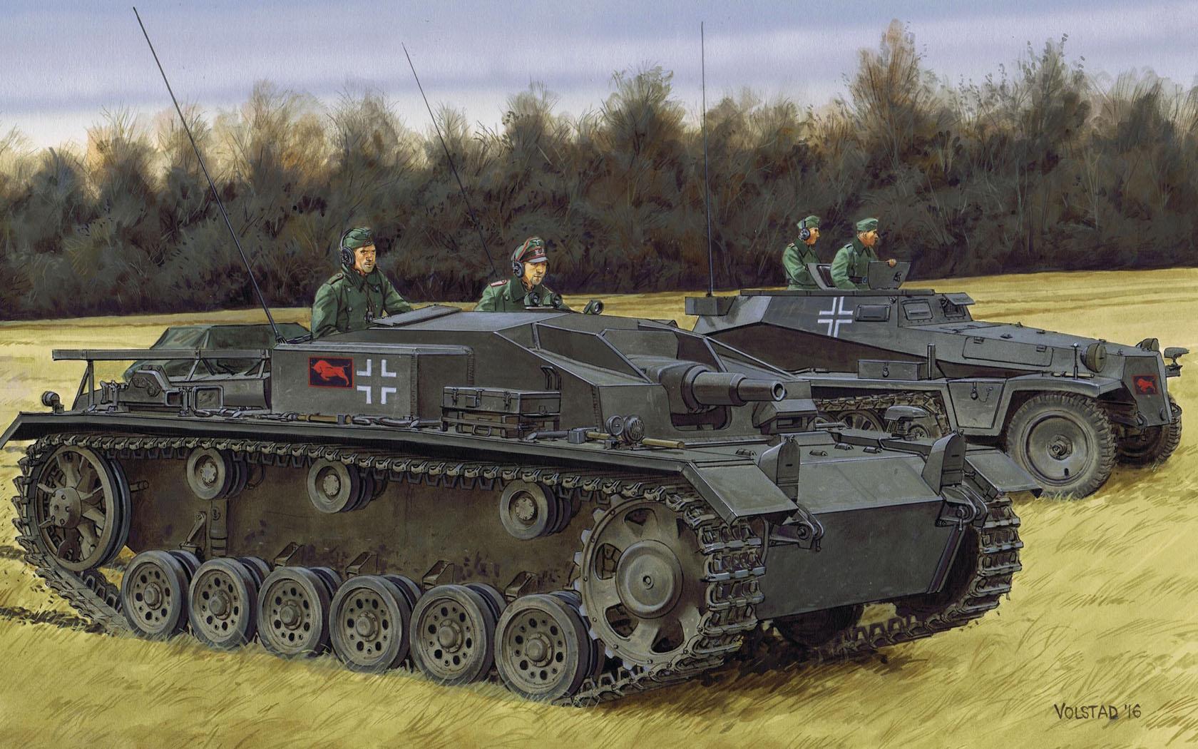 рисунок StuG.III Ausf.E