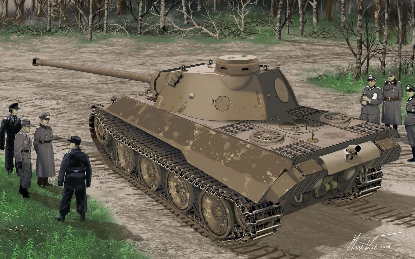 рисунок Panther Ausf.D V2 Versuchsserie