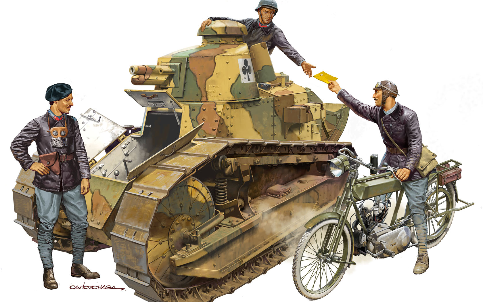 рисунок French FT-17 Tank Crew and Orderly