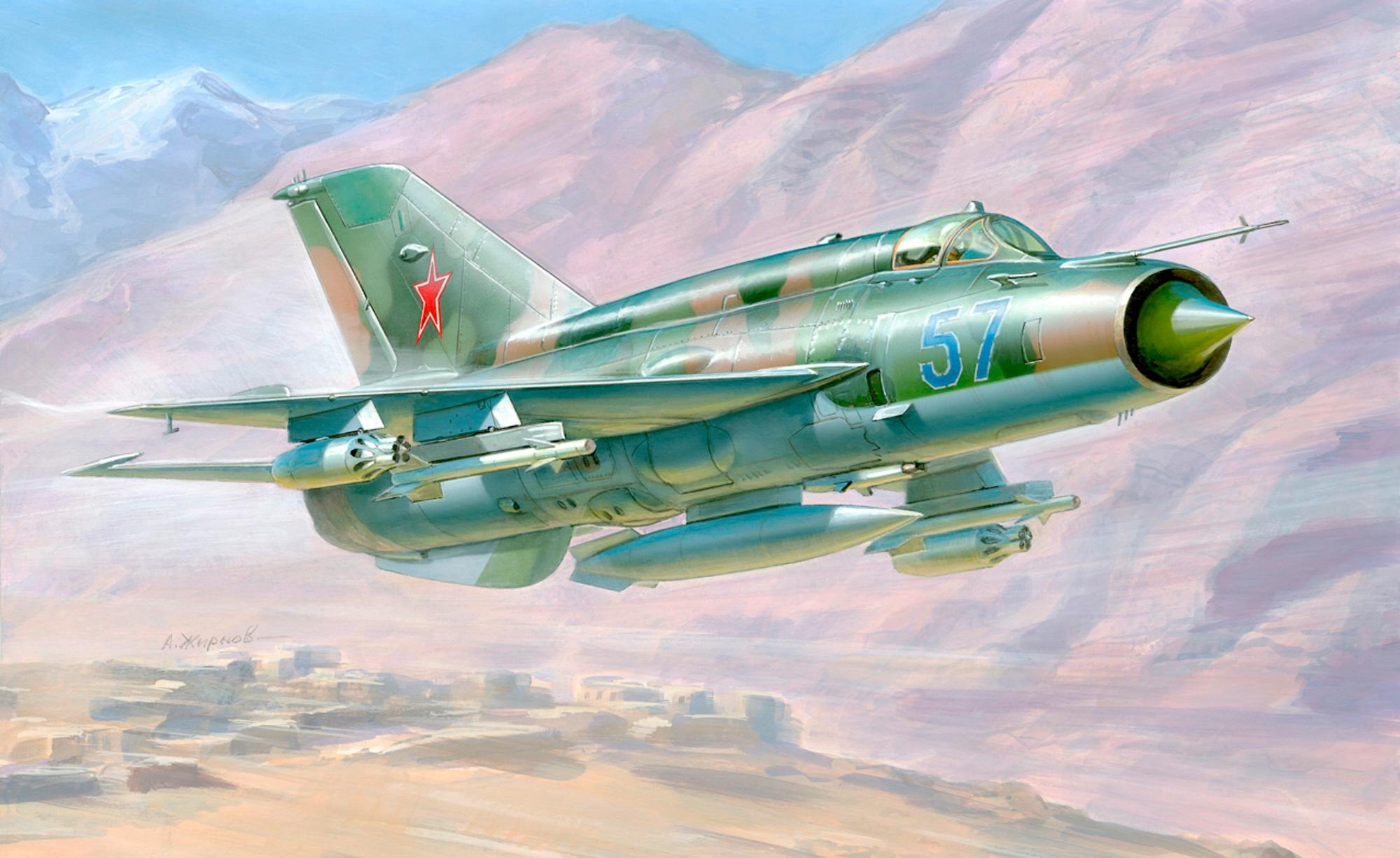 рисунок МиГ-21БИС
