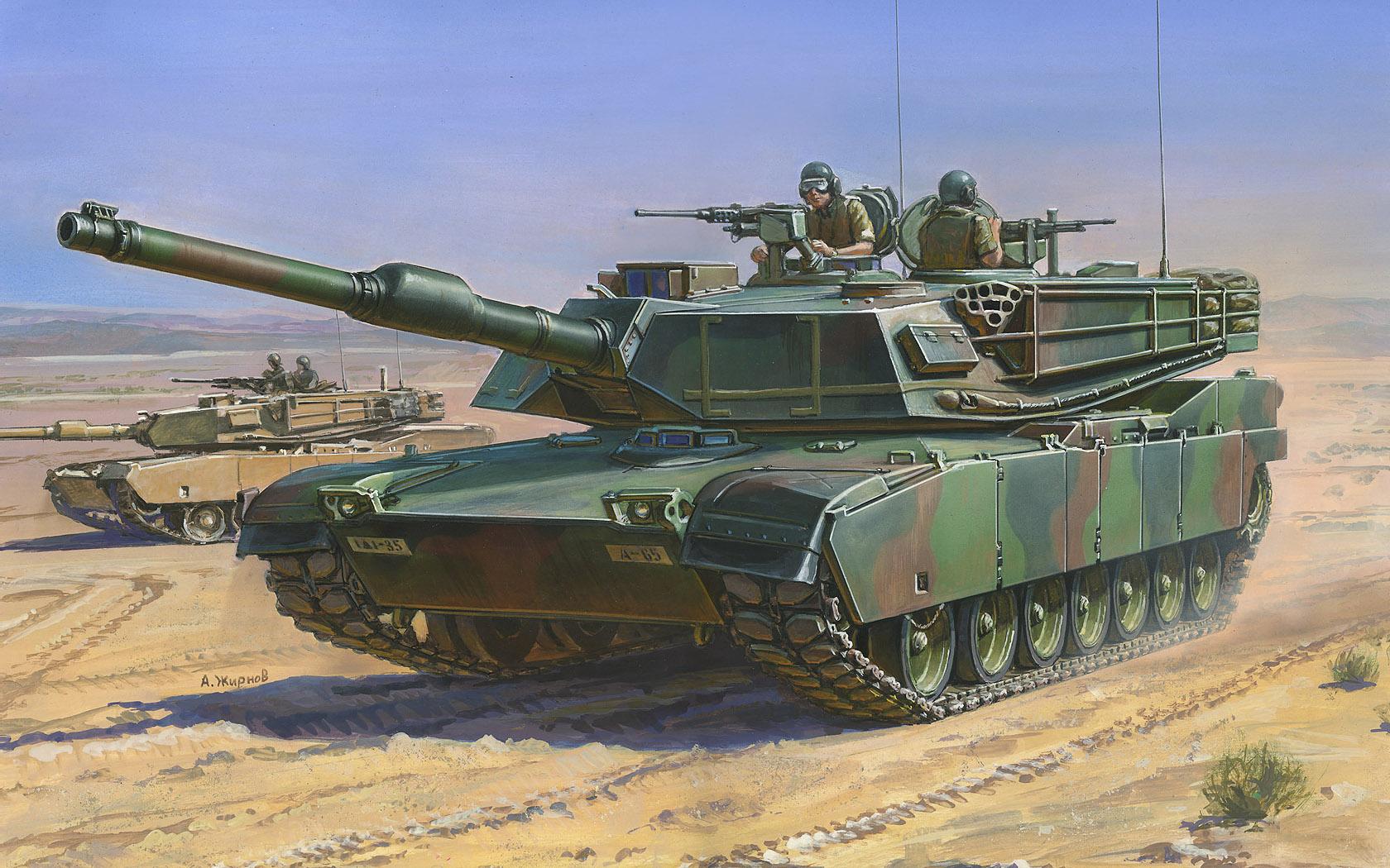 рисунок M1A1 Abrams