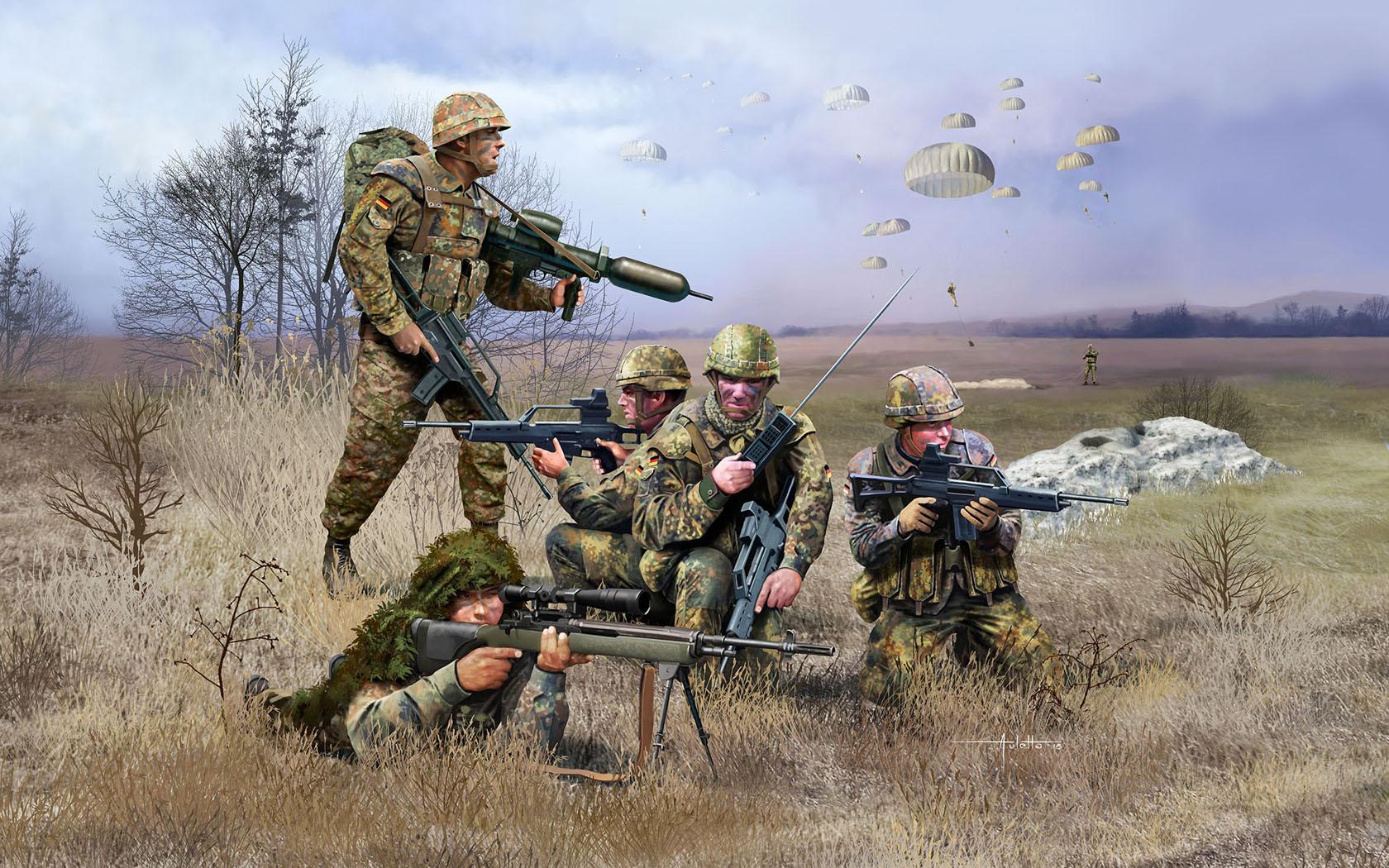 рисунок German Paratroops