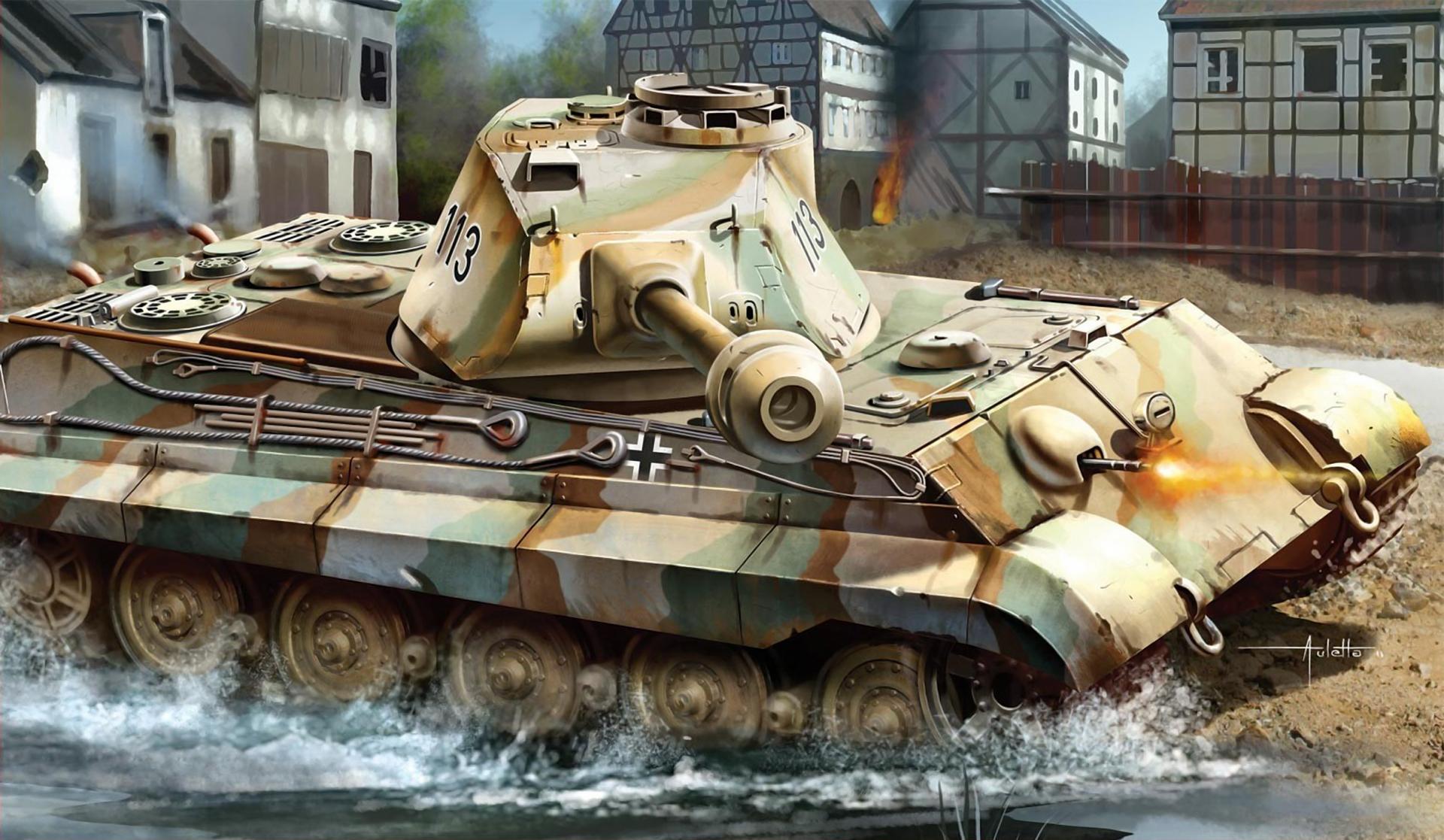 рисунок King Tiger 113