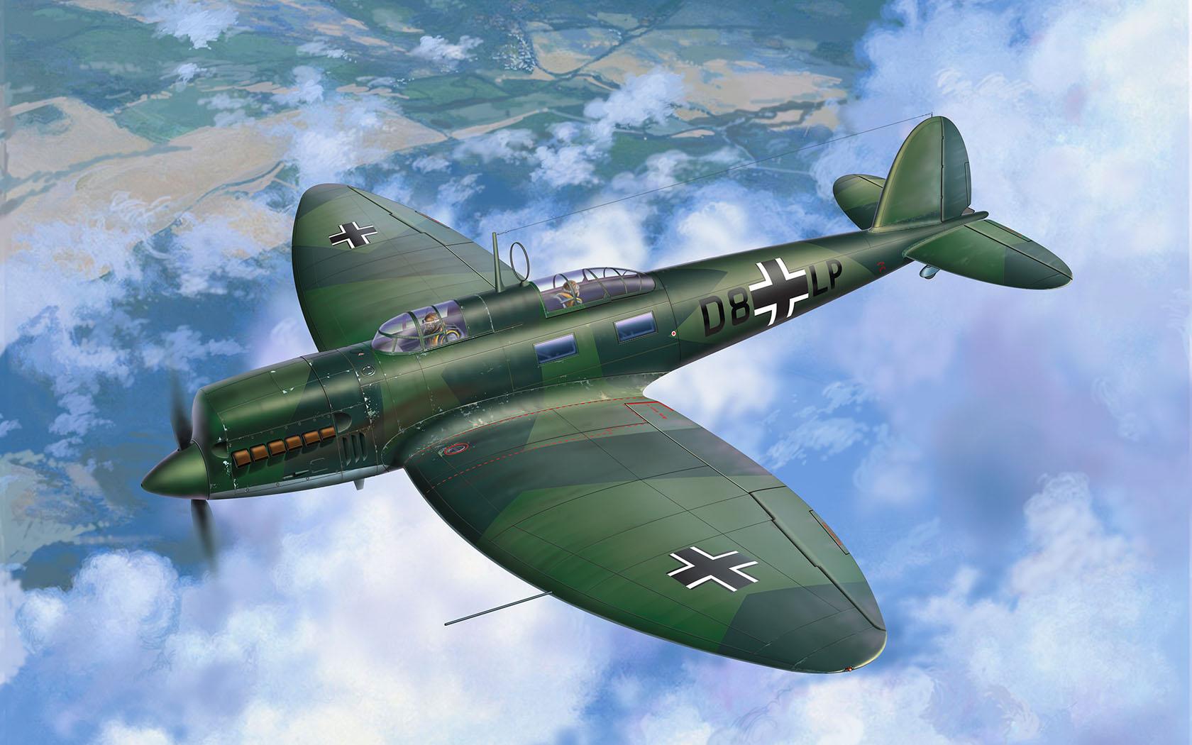 рисунок Heinkel He 70 F-2