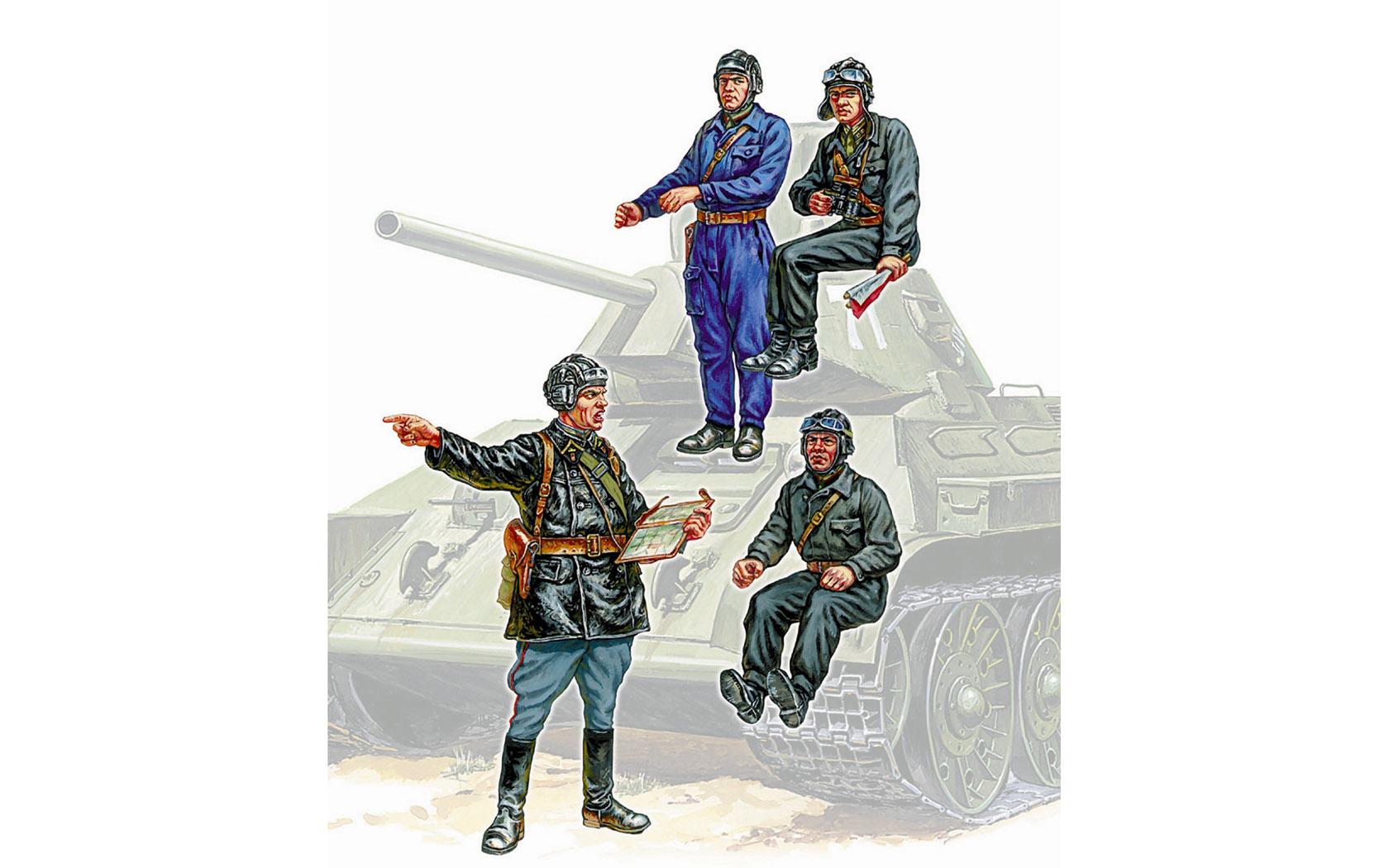 рисунок советский танковый экипаж
