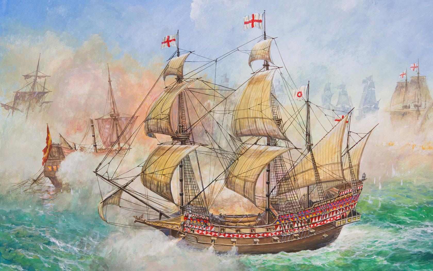 """рисунок Флагманский корабль Френсиса Дрейка """"Ревендж"""""""