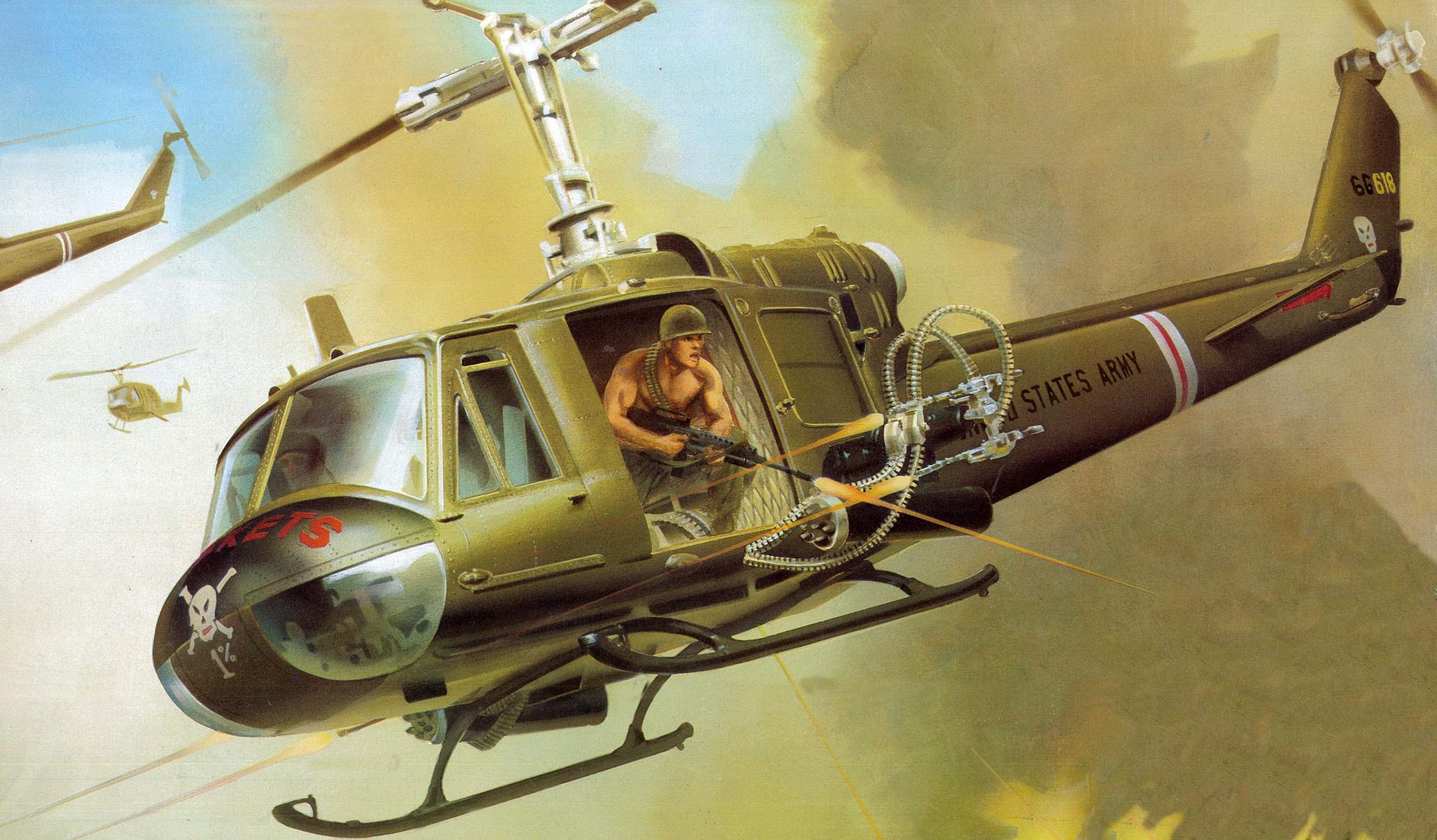 рисунок Bell UH-1B