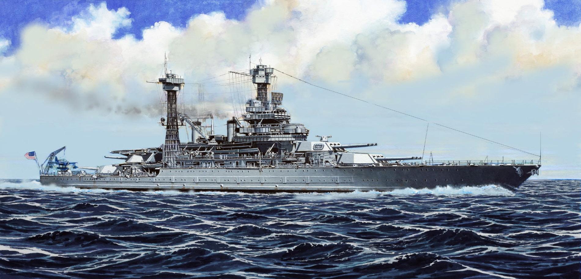 рисунок USS California BB-44 1941
