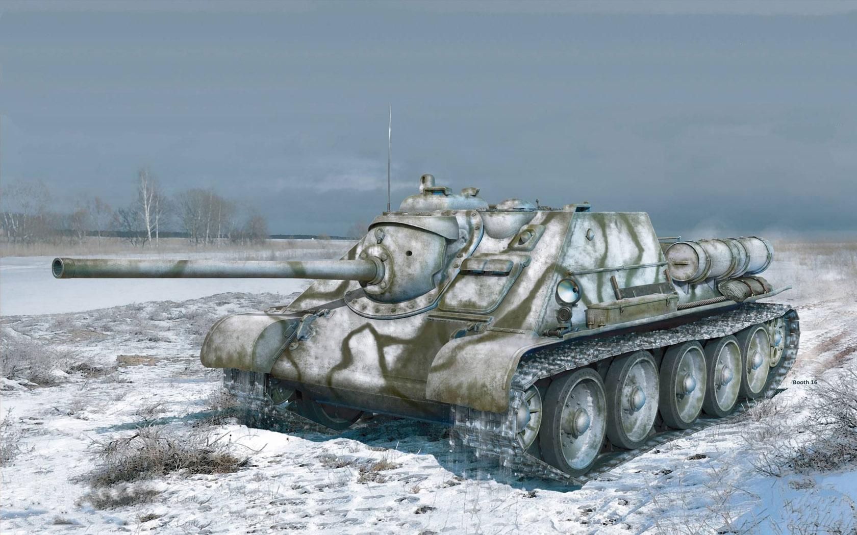 рисунок SU-85 Soviet SPG Mod. 1943 (Early Production)