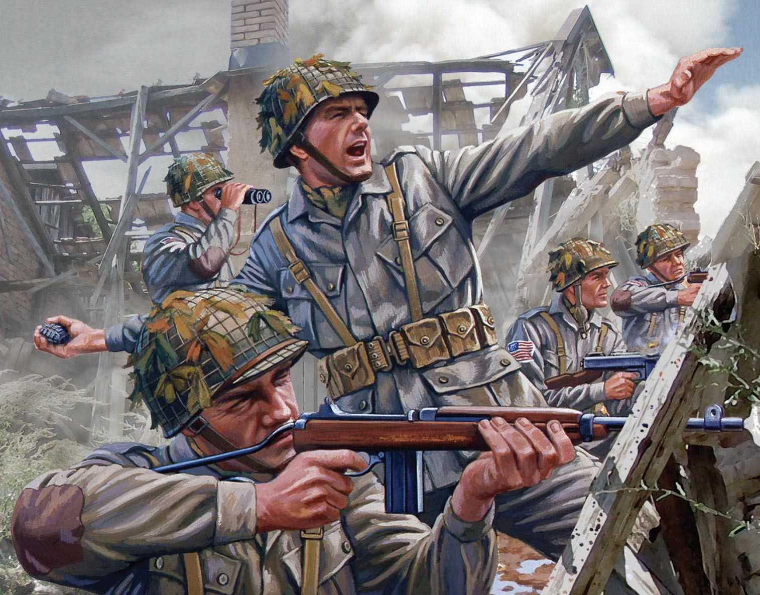 рисунок WWII US Paratroopers