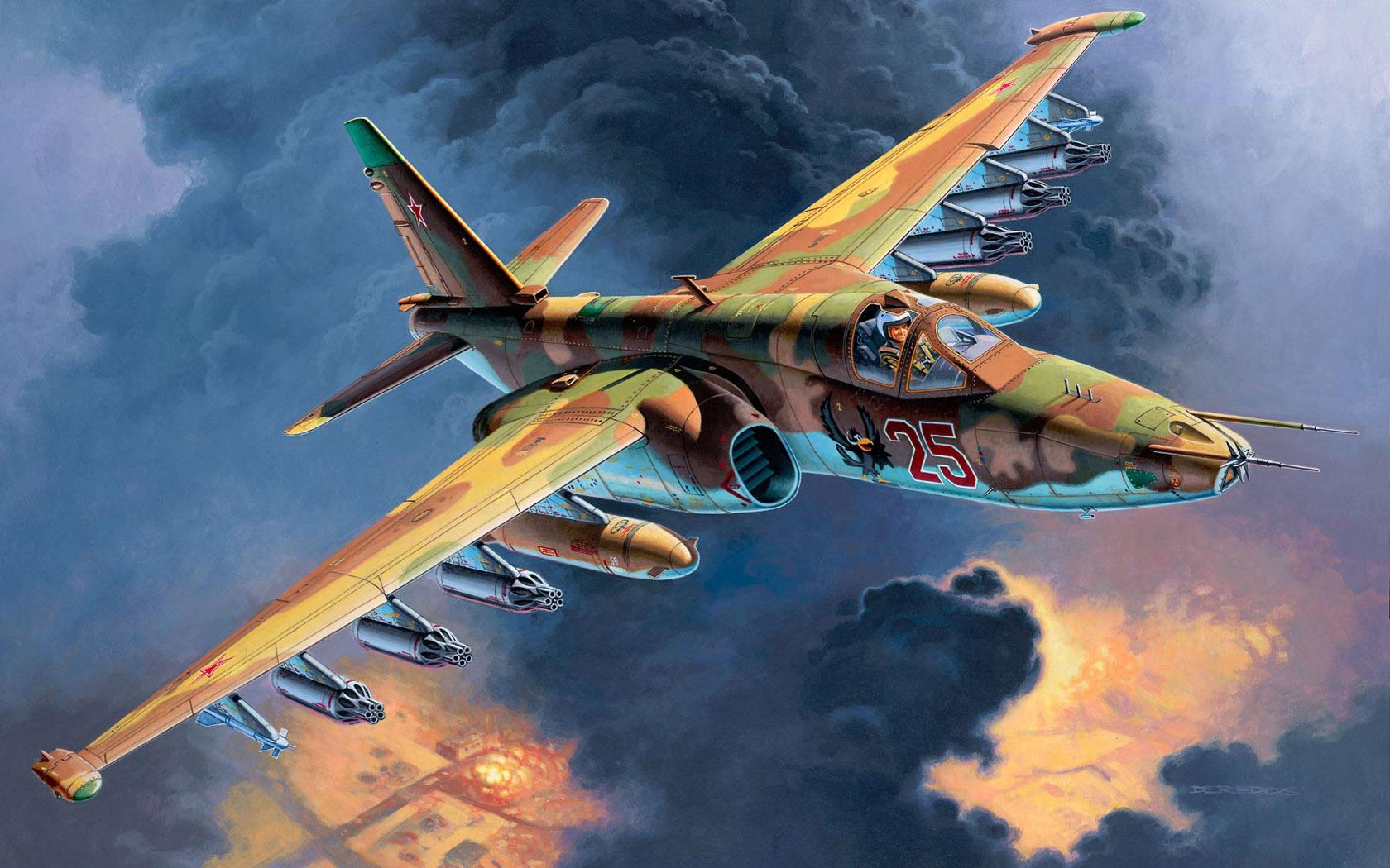 рисунок Су-25 Грач