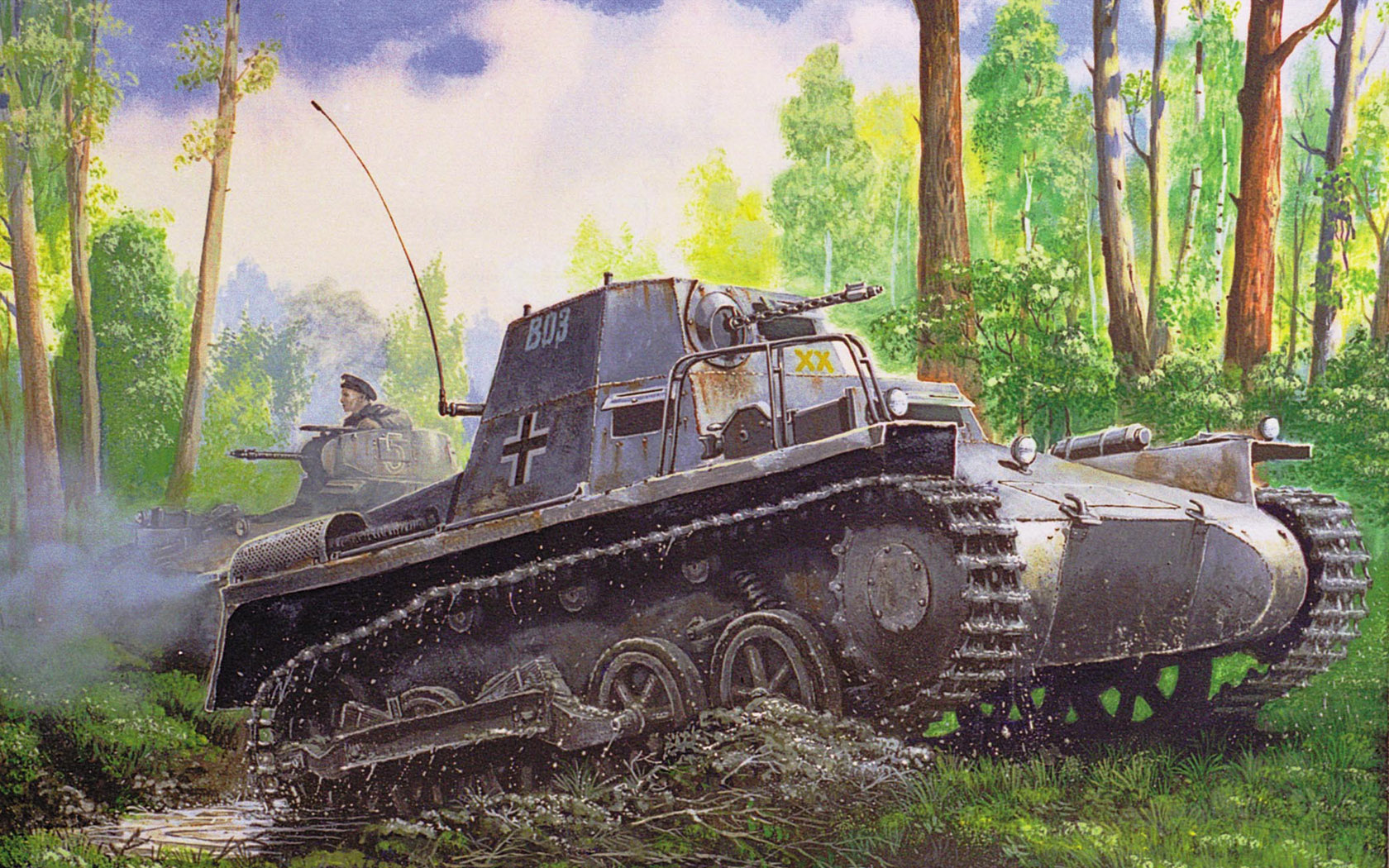 рисунок Kleiner Panzerbefehlswagen