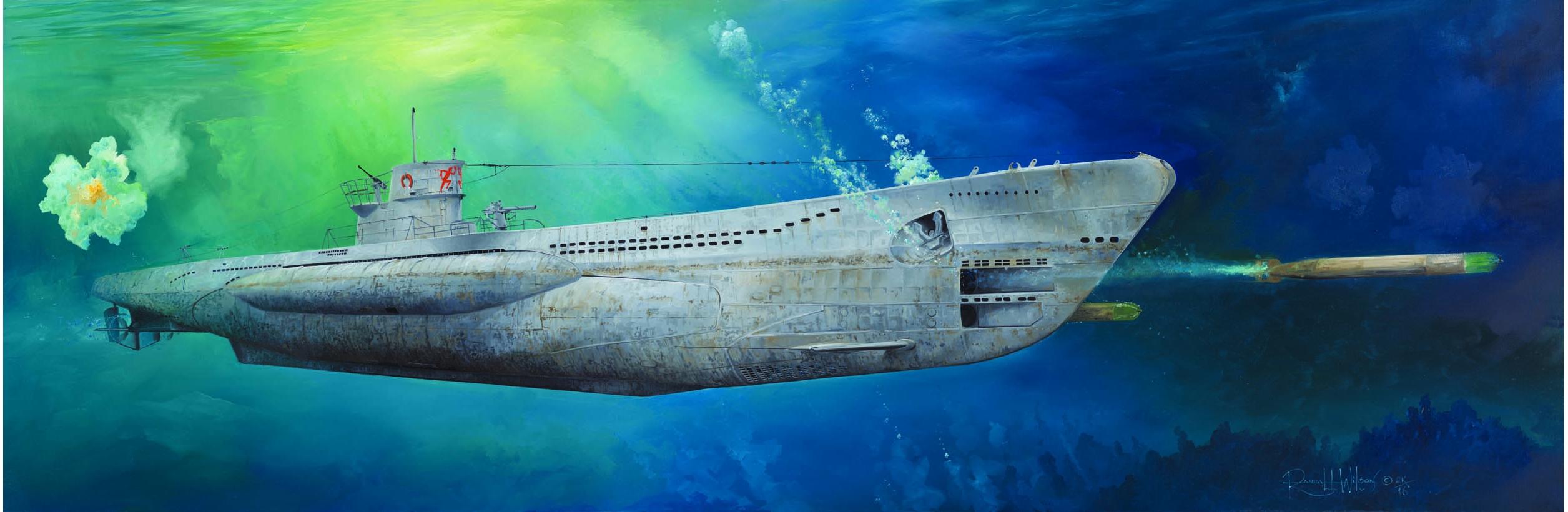 рисунок German Type VIIC U-Boat U-552