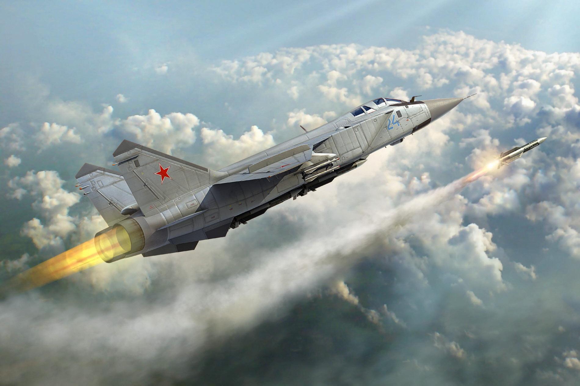 рисунок russian mig-31 foxhound