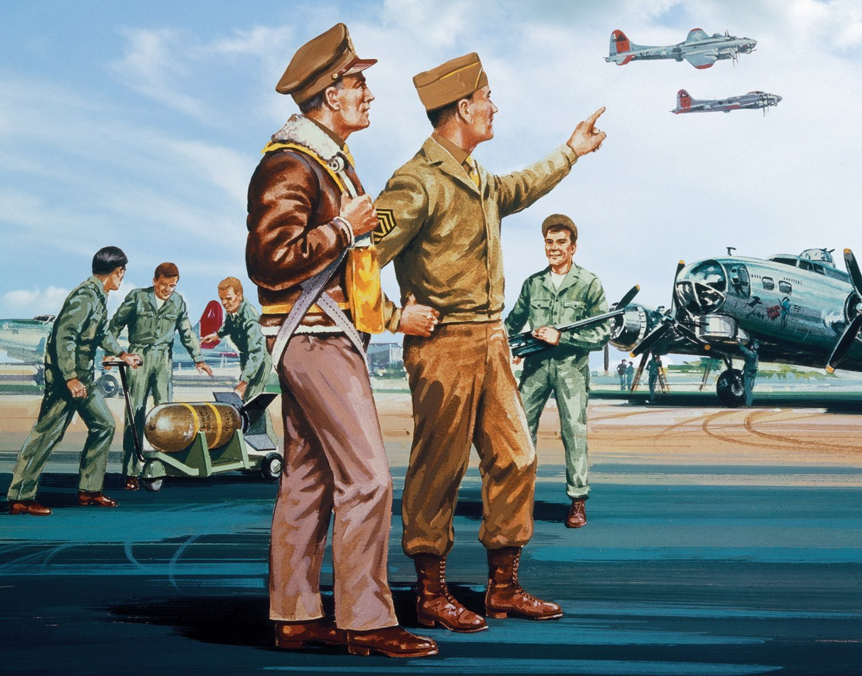 рисунок WWII USAAF Personnel