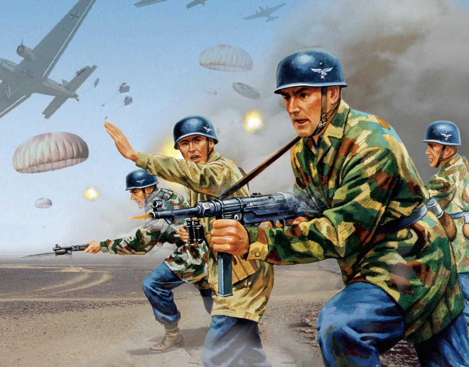 рисунок десантники Германии Втрой мировой